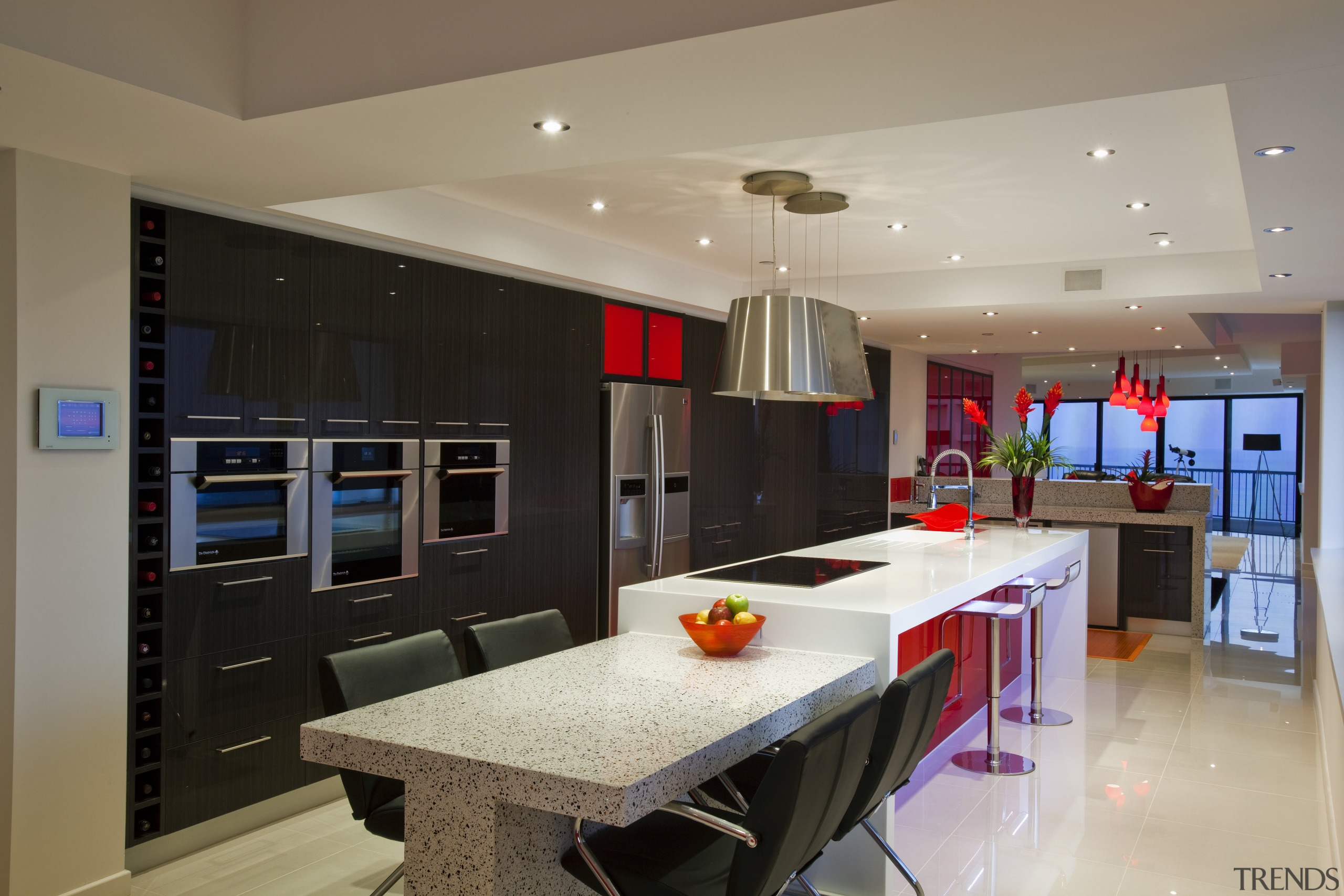 Kitchen Connection Gold Coast created a high-impact, low-maintenance countertop, interior design, kitchen, real estate, room, gray, black