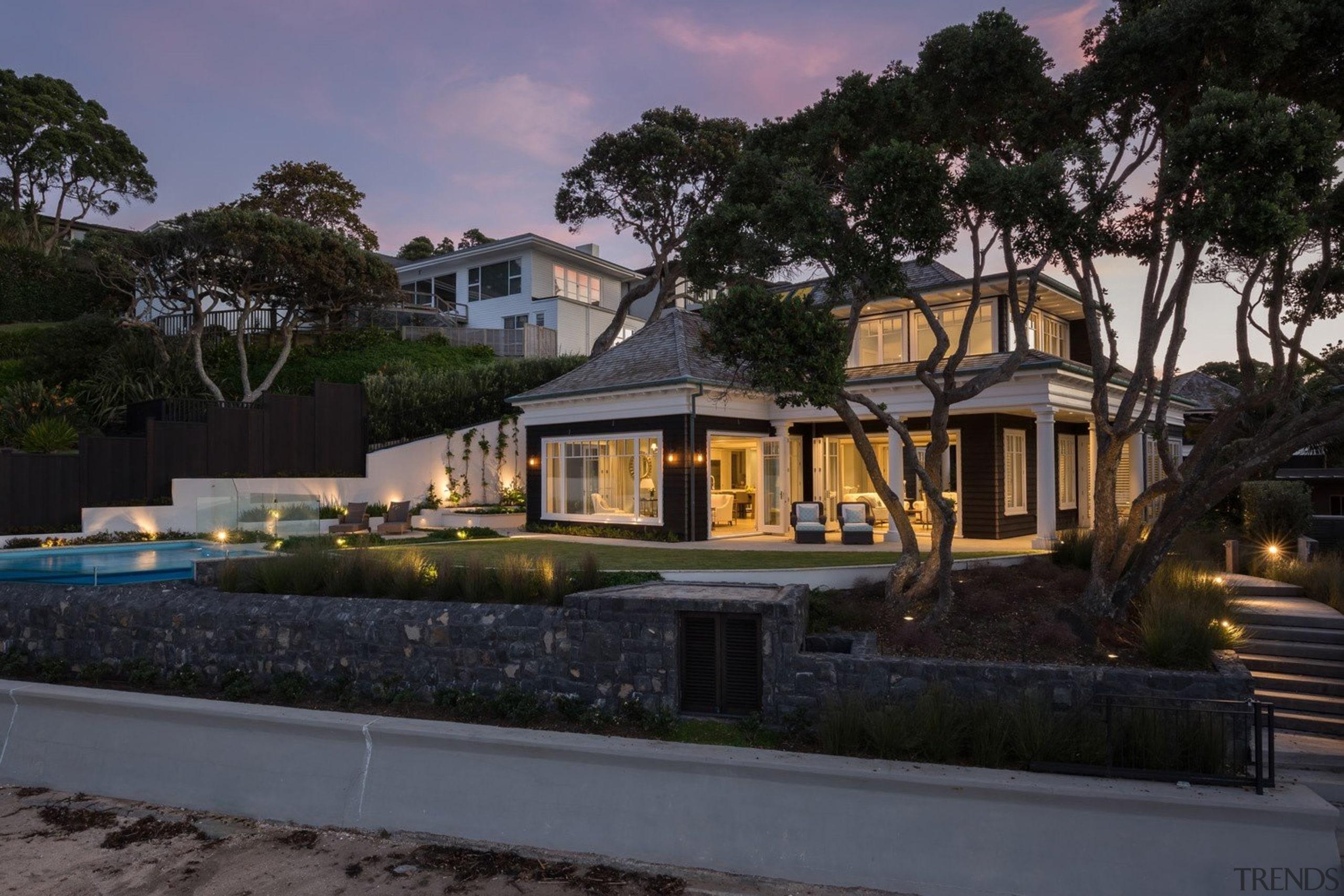 Exterior - architecture | cottage | estate | architecture, cottage, estate, facade, home, house, mansion, property, real estate, residential area, resort, villa, black, gray
