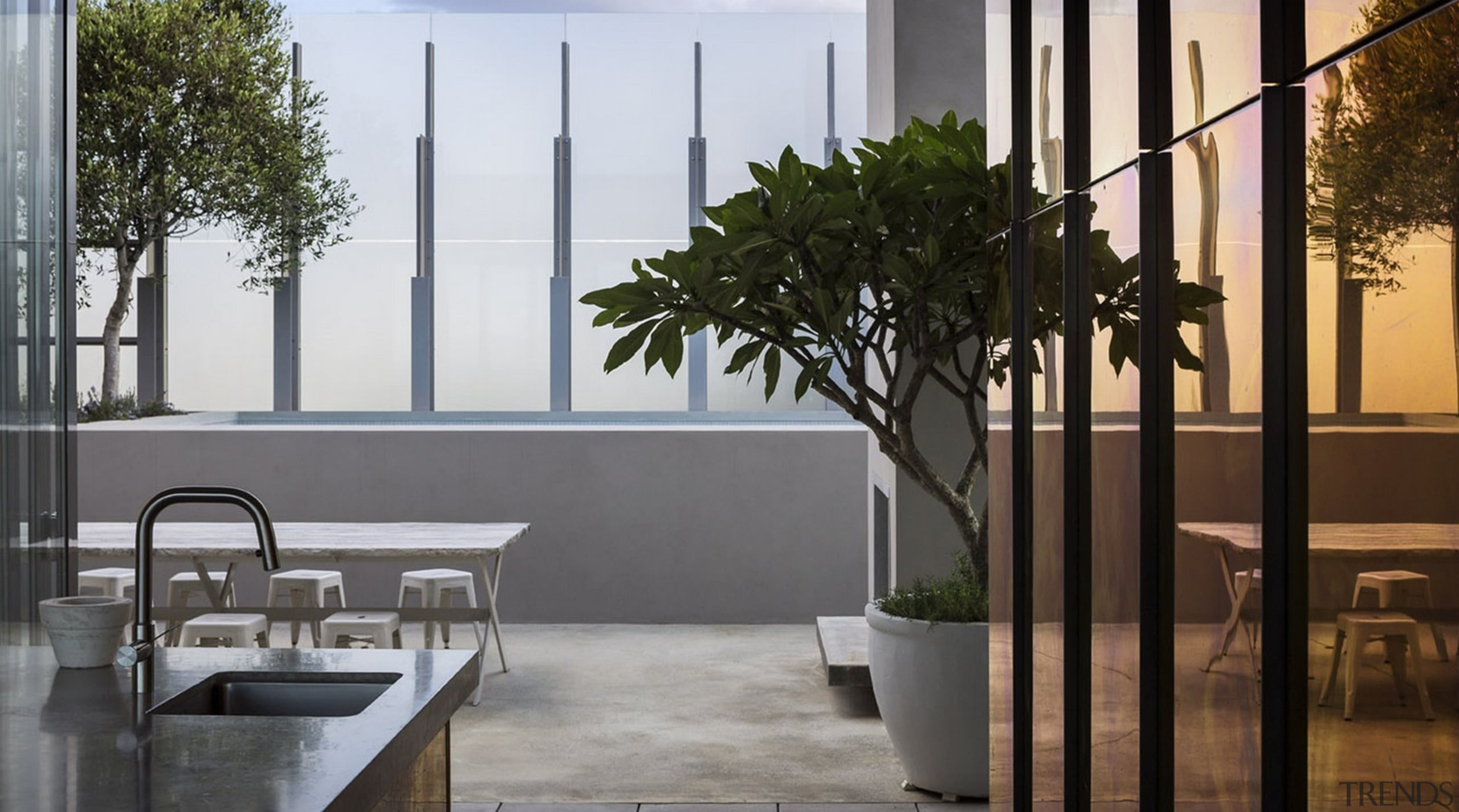 Winner of the Villa Category at the World architecture, glass, home, house, interior design, window, gray, black