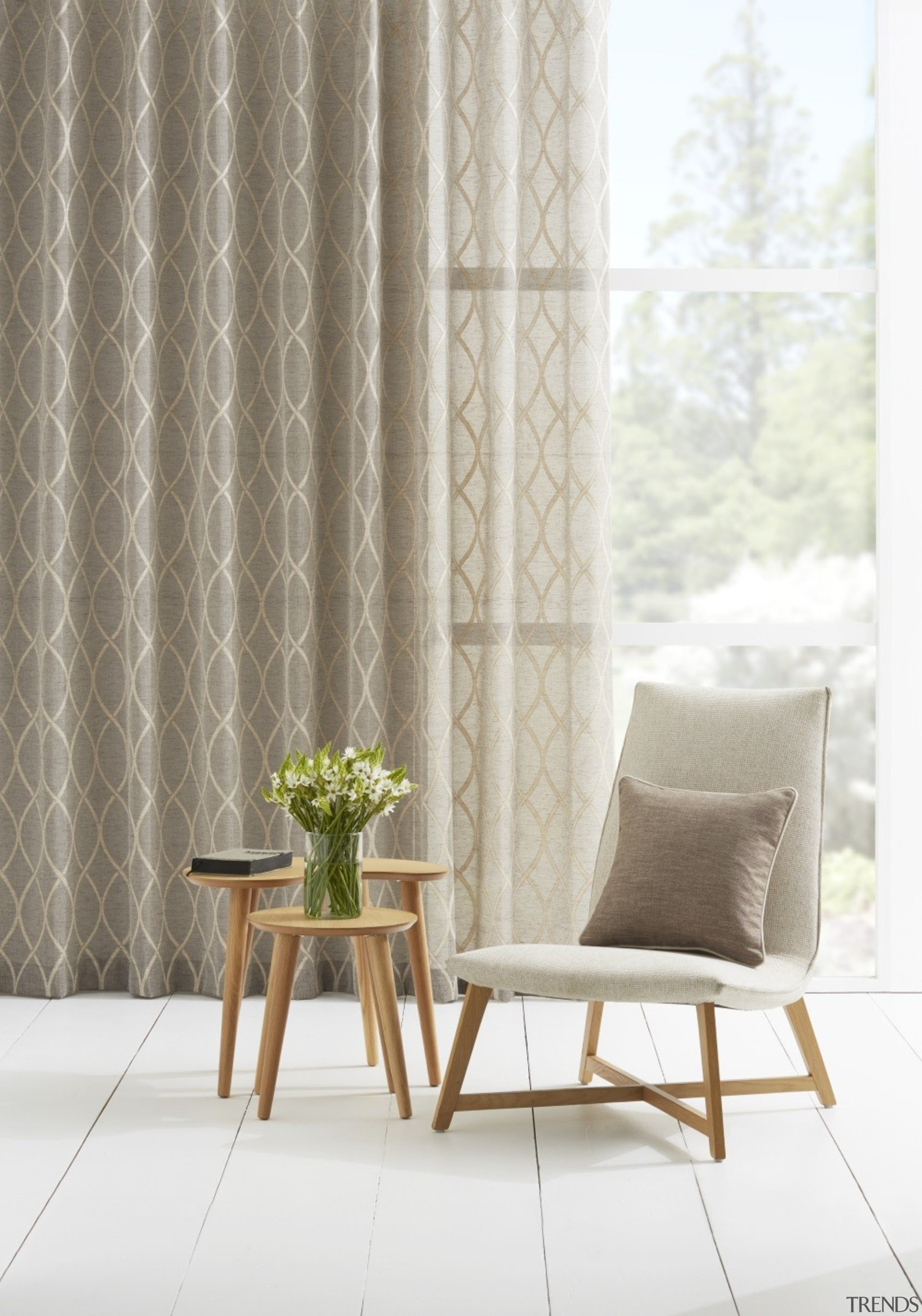 Harrisons Curtains - Harrisons Curtains - chair | chair, curtain, decor, floor, furniture, interior design, product design, table, textile, window, window covering, window treatment, white, gray