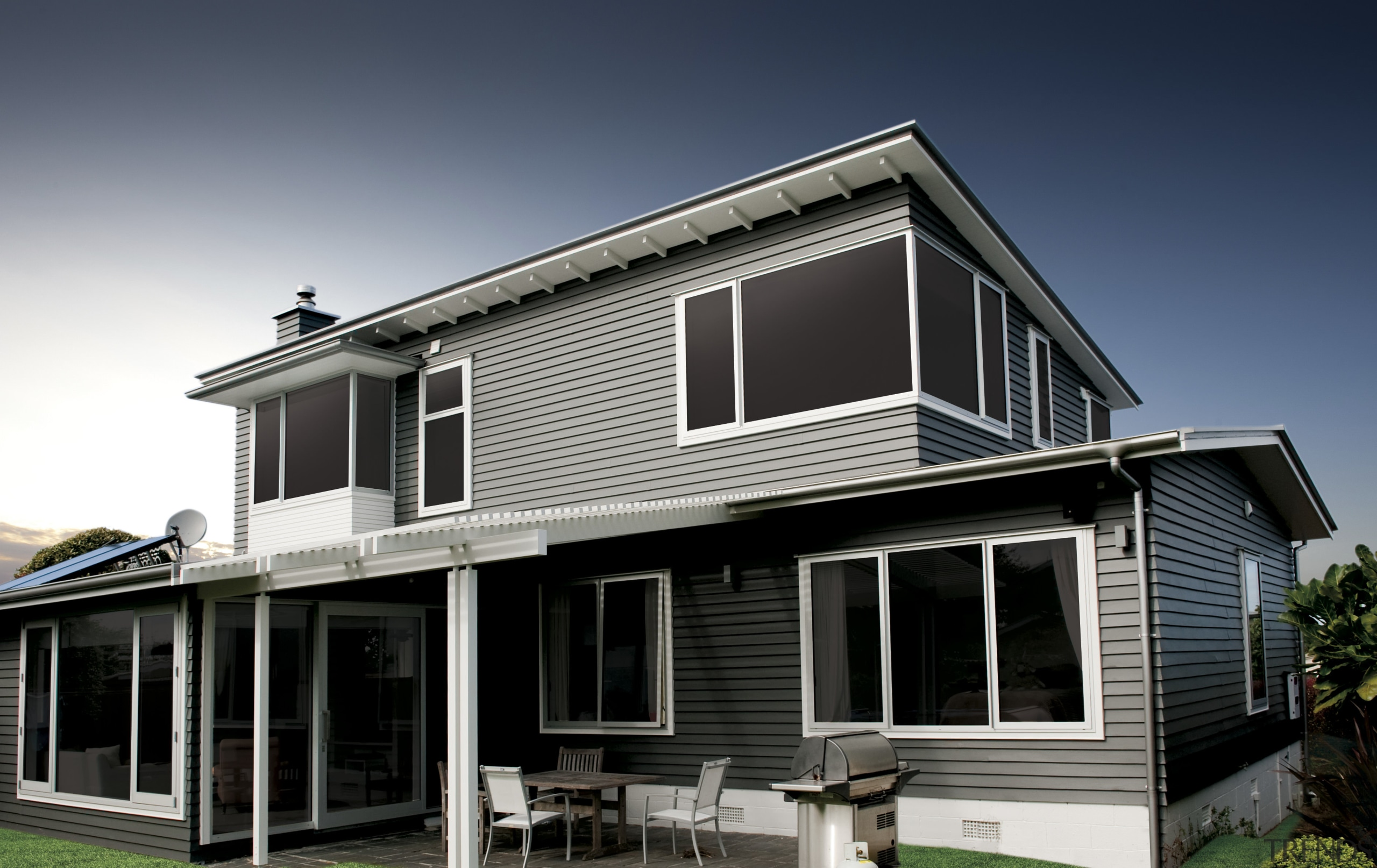 View Of Exterior With Grey Cladding Gallery 2 Trends