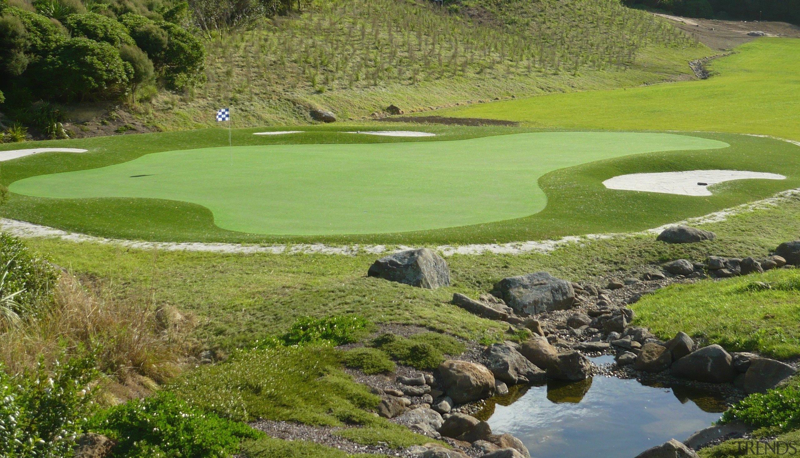 Sport - golf club | golf course | golf club, golf course, grass, grassland, landscape, water resources, brown, green