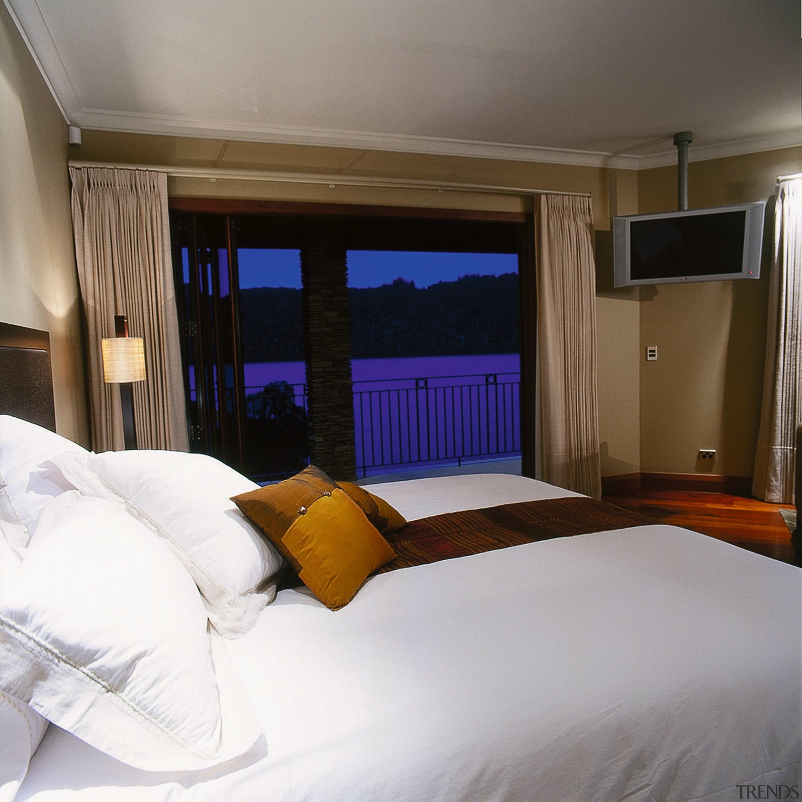 Inner view of the master bedroom - Inner bed, bed frame, bedroom, ceiling, floor, home, interior design, real estate, room, suite, window, gray, brown