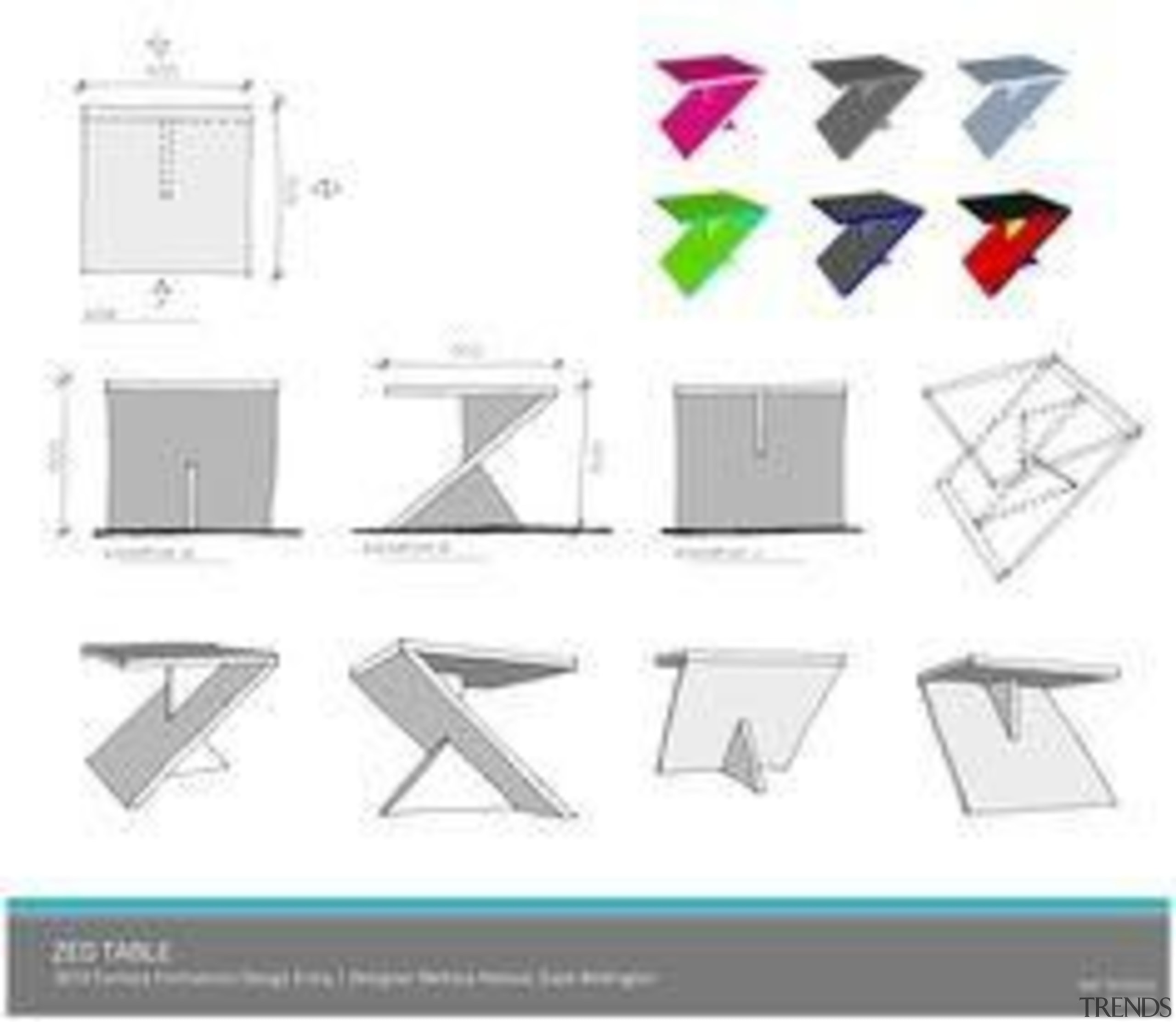 Melissa Robson - Zed Table - angle | angle, area, design, diagram, font, furniture, line, material, pattern, product, product design, square, structure, technology, text, triangle, white