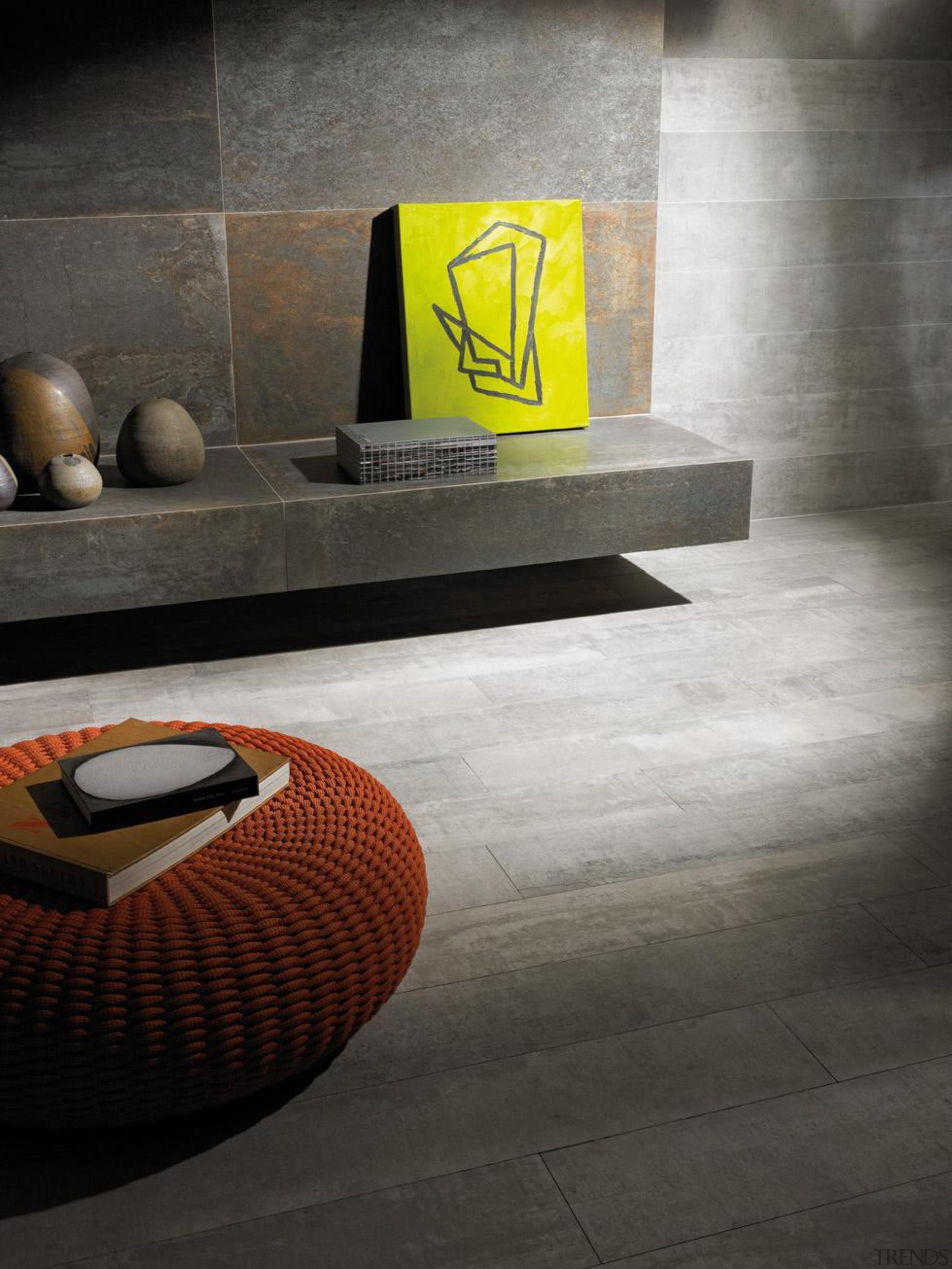 Steel Corten Matt 600x1200mm porcelain tiles. - Steel architecture, chair, floor, flooring, furniture, hardwood, interior design, product design, table, tile, wall, black, gray