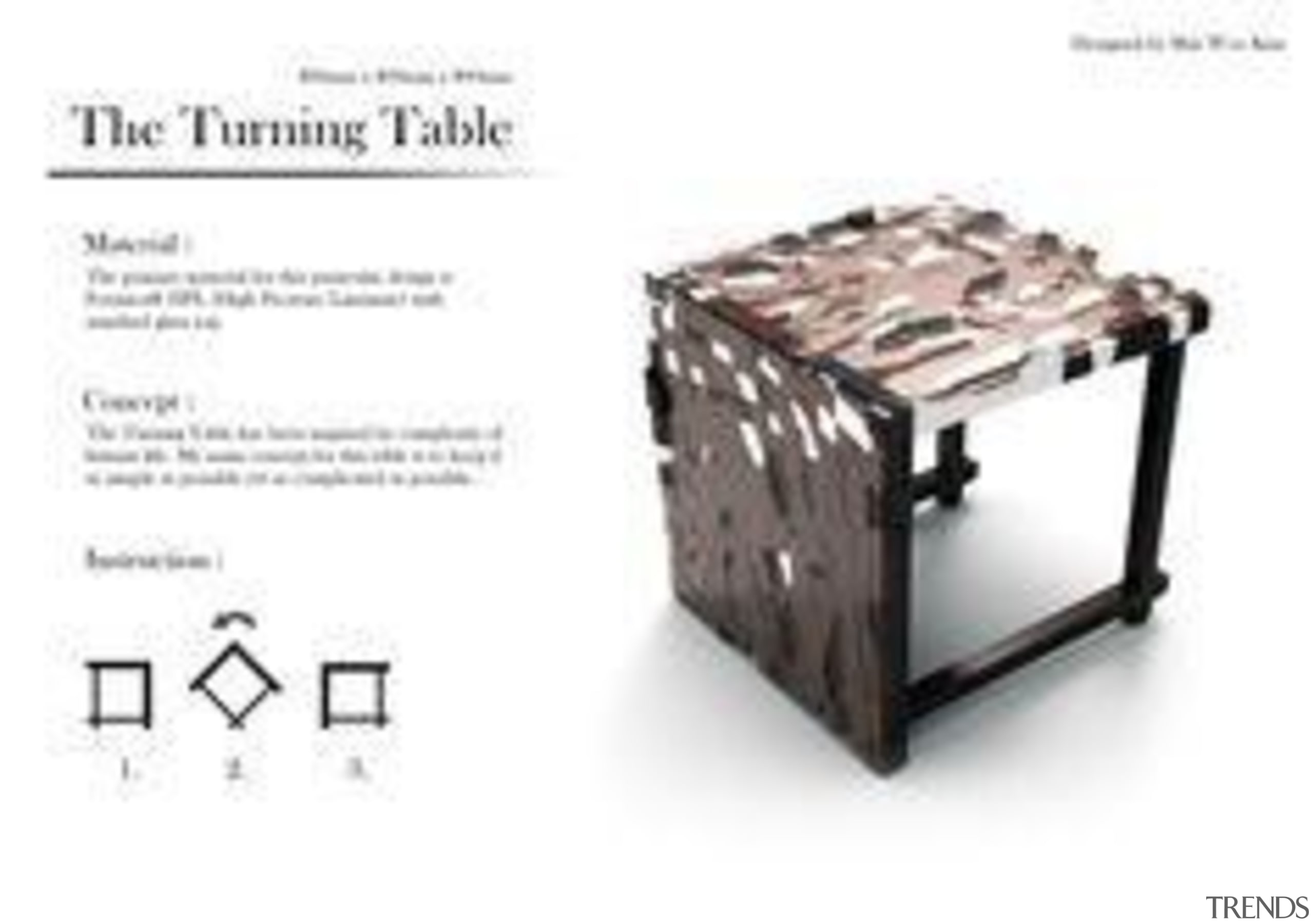 by Min Woo Kim - The Turning Table furniture, product, product design, table, white