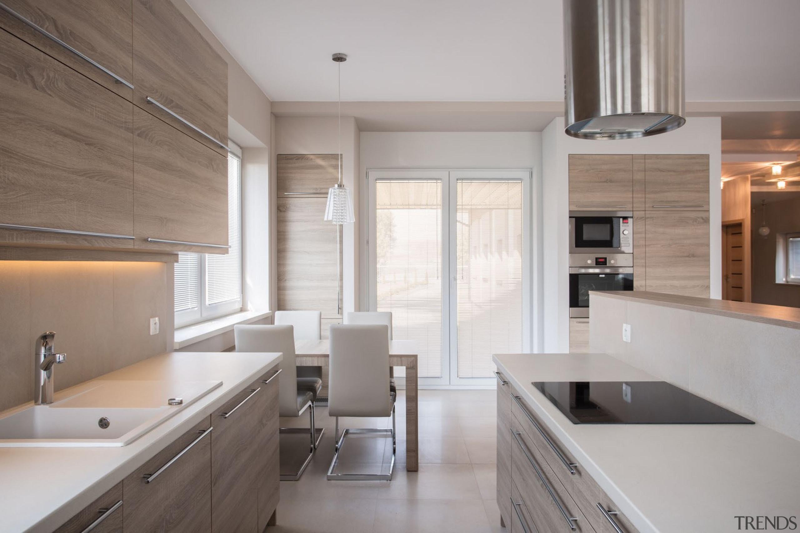 Silestone Kitchen - Coral Clay - Suede - cabinetry, countertop, cuisine classique, floor, flooring, interior design, kitchen, real estate, room, wood flooring, gray