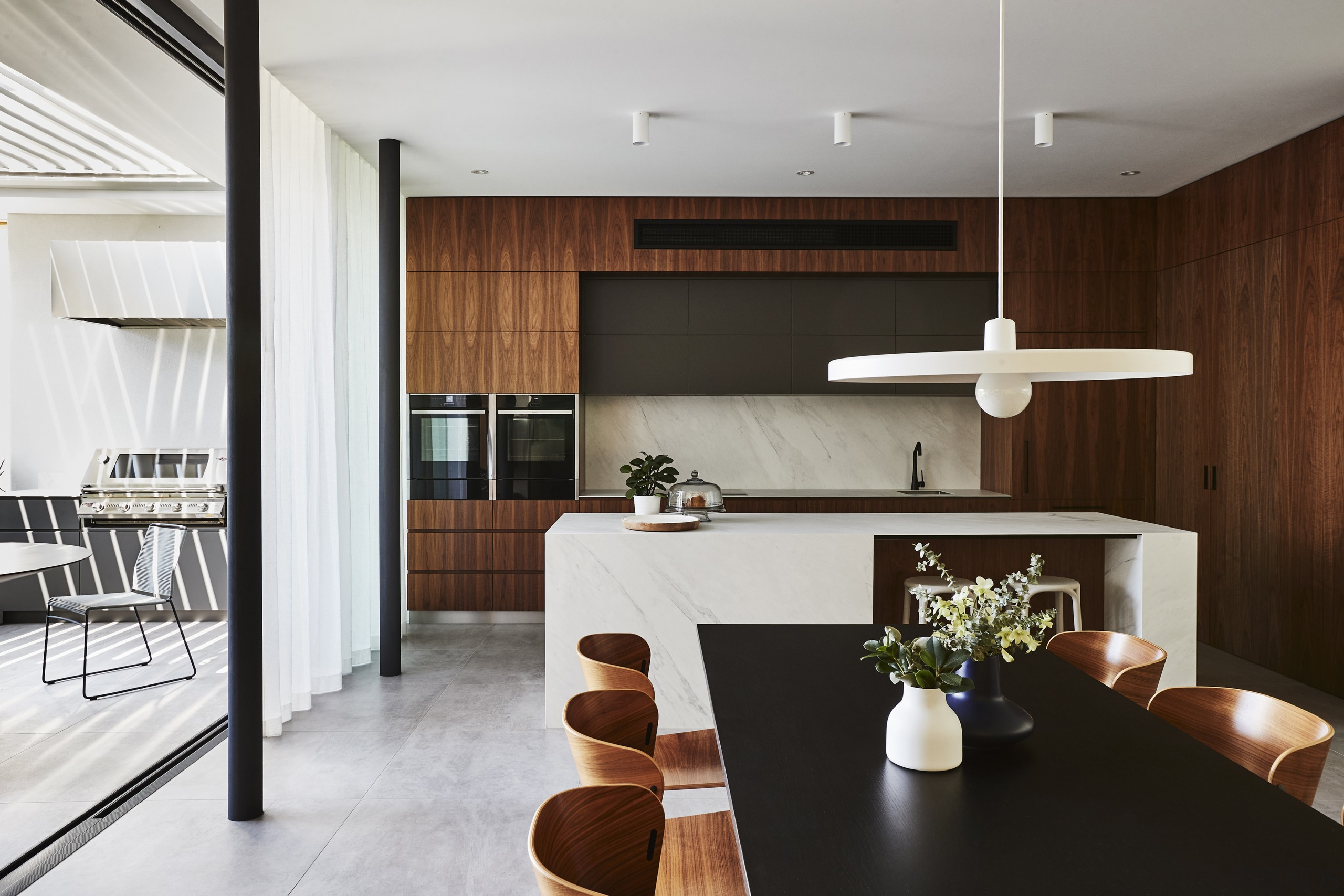 The ground floor family living areas – kitchen,