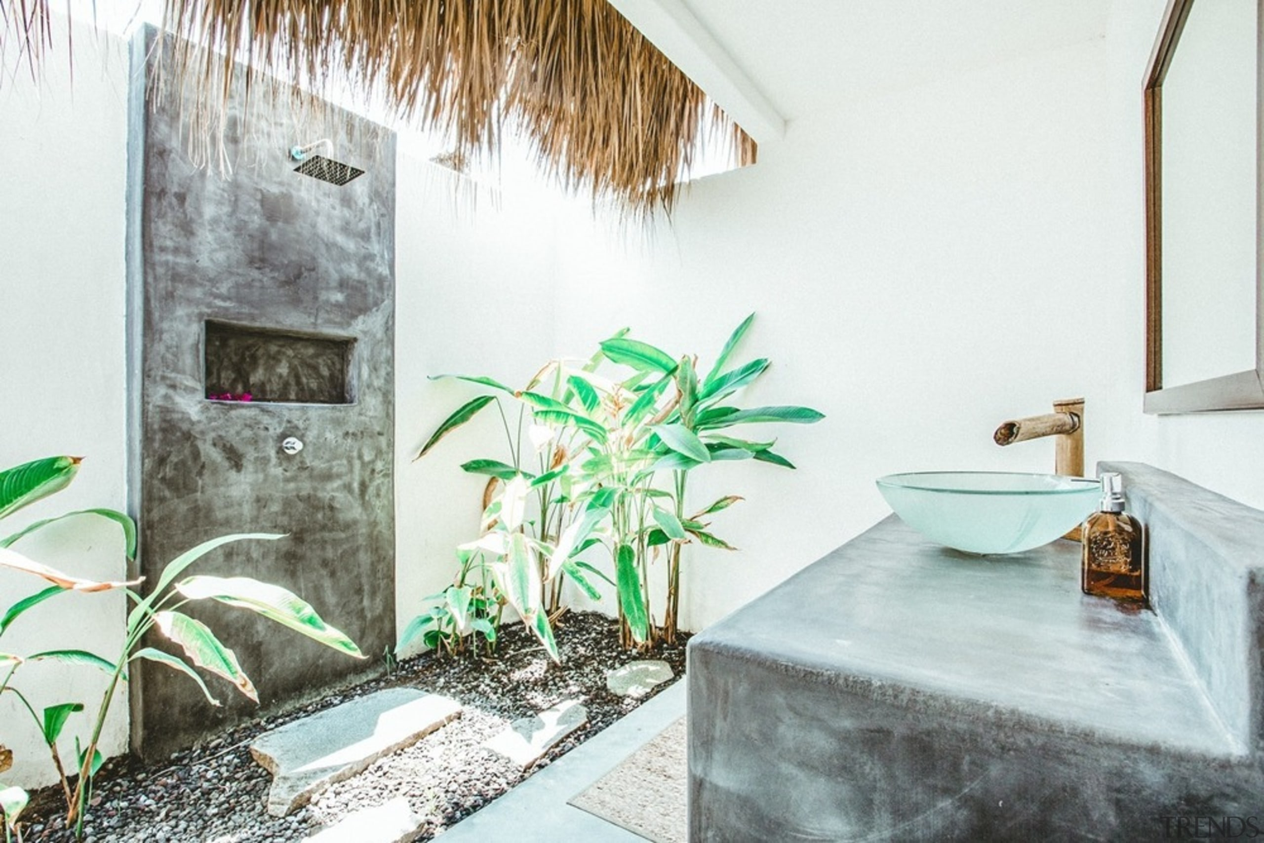All of the rooms enjoy the luxury of bathroom, building, floor, furniture, green, home, house, houseplant, interior design, plant, property, real estate, room, tile, white