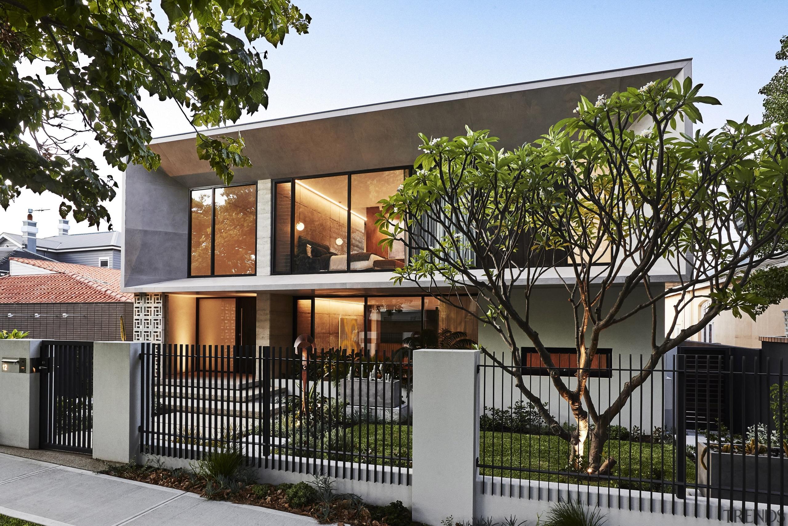 The home's design – facade included – responds