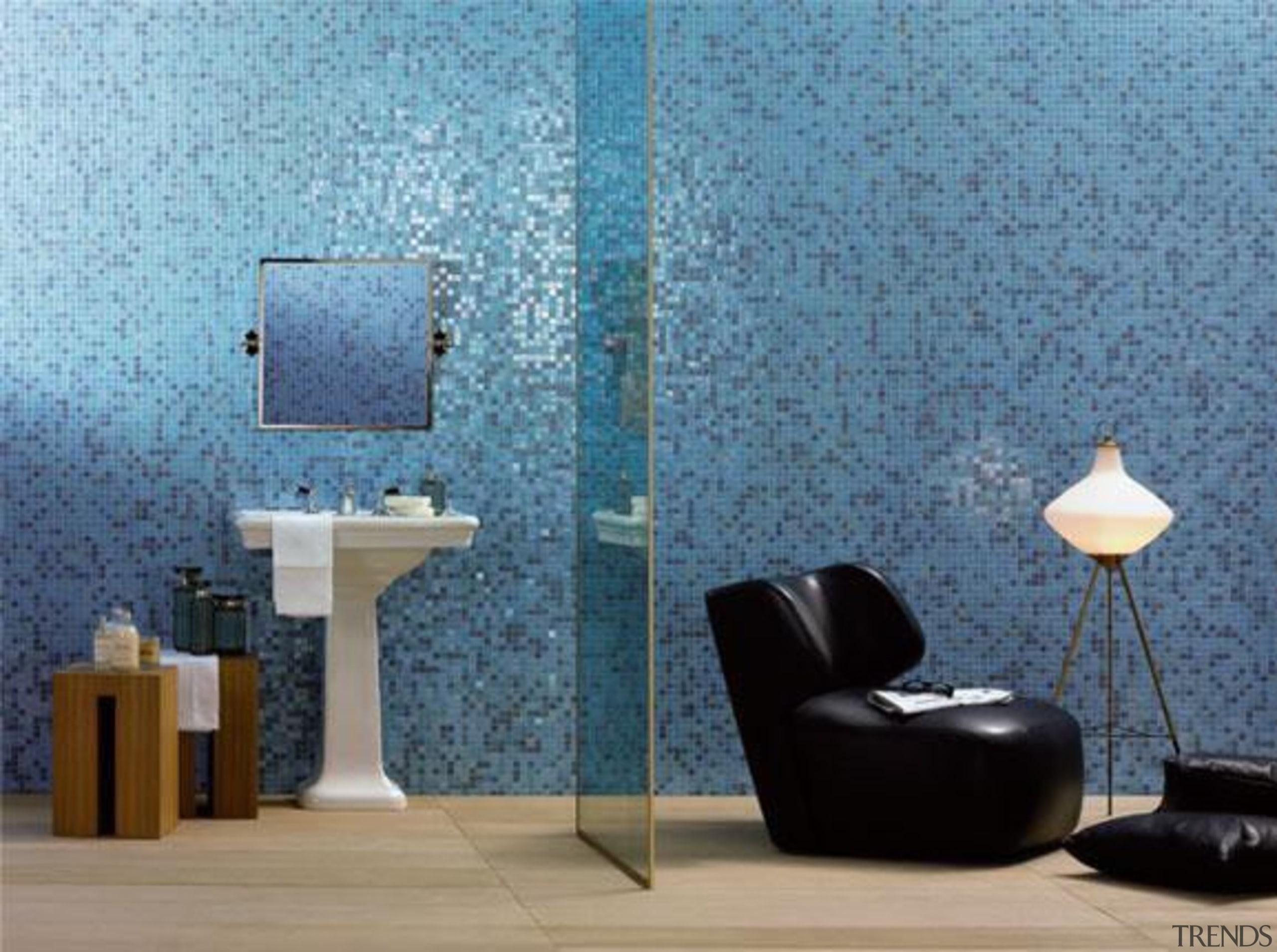 Sophia mosaic wall. - Bisazza Range - blue blue, floor, flooring, interior design, product design, tile, wall, wallpaper, teal