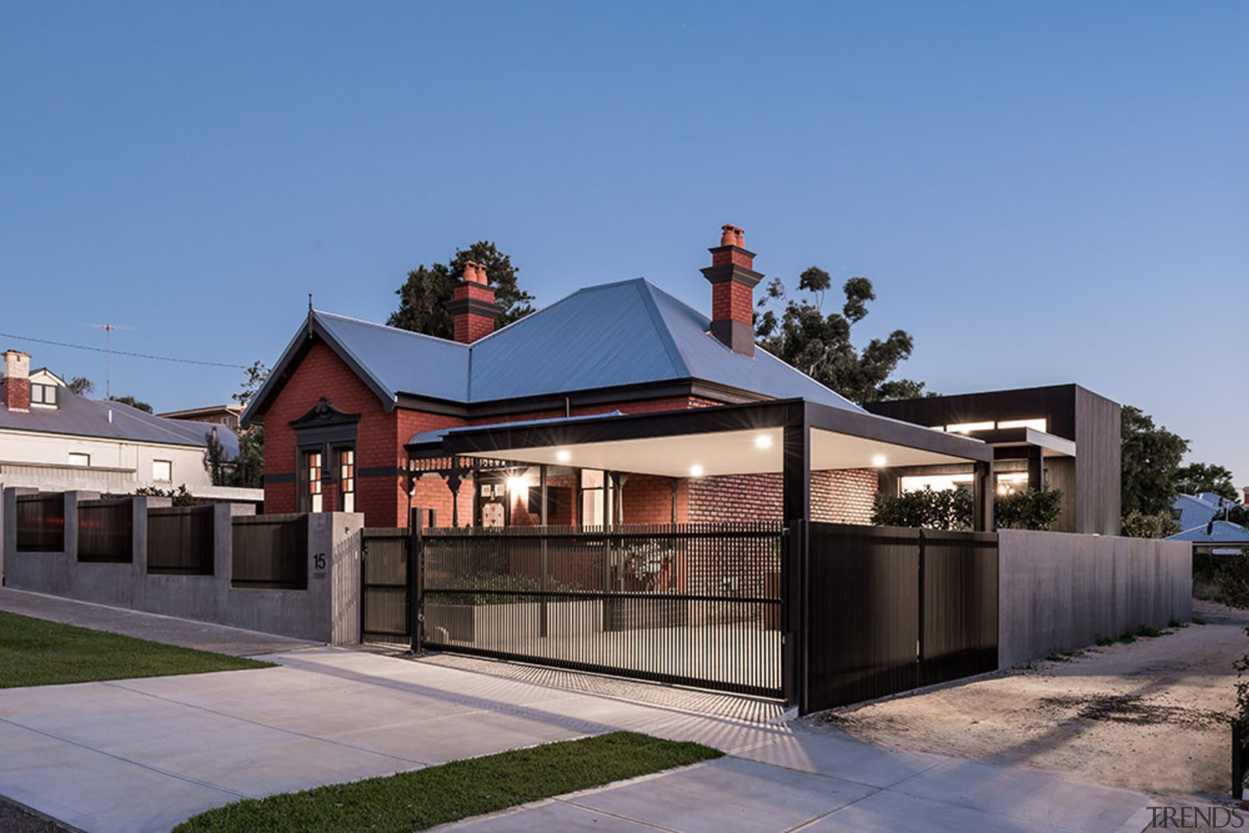Winner: 2017 TIDA Australia Home of the YearFinalist: architecture, facade, home, house, real estate, residential area, roof, suburb, teal