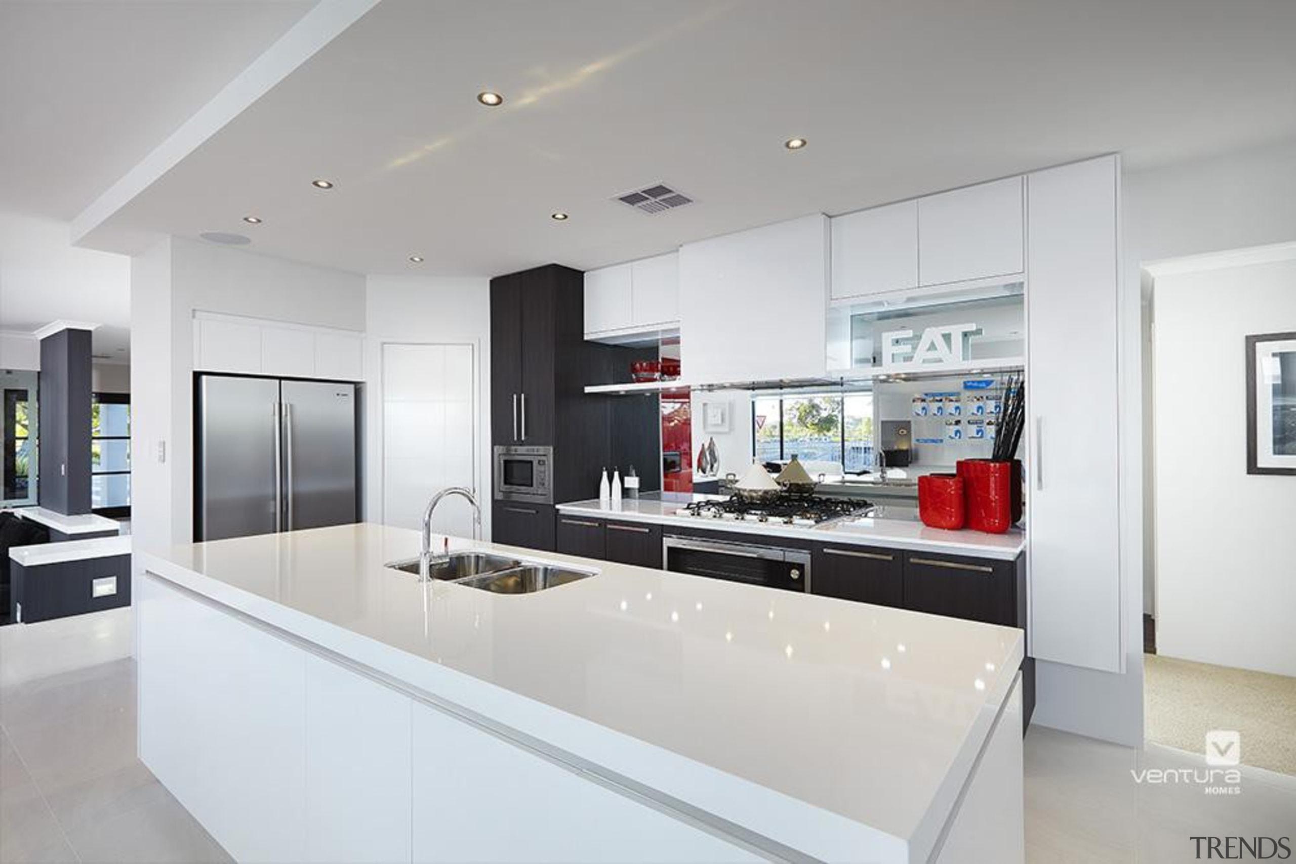 Kitchen design. - The Montrose Display Home - countertop, interior design, kitchen, real estate, gray, white