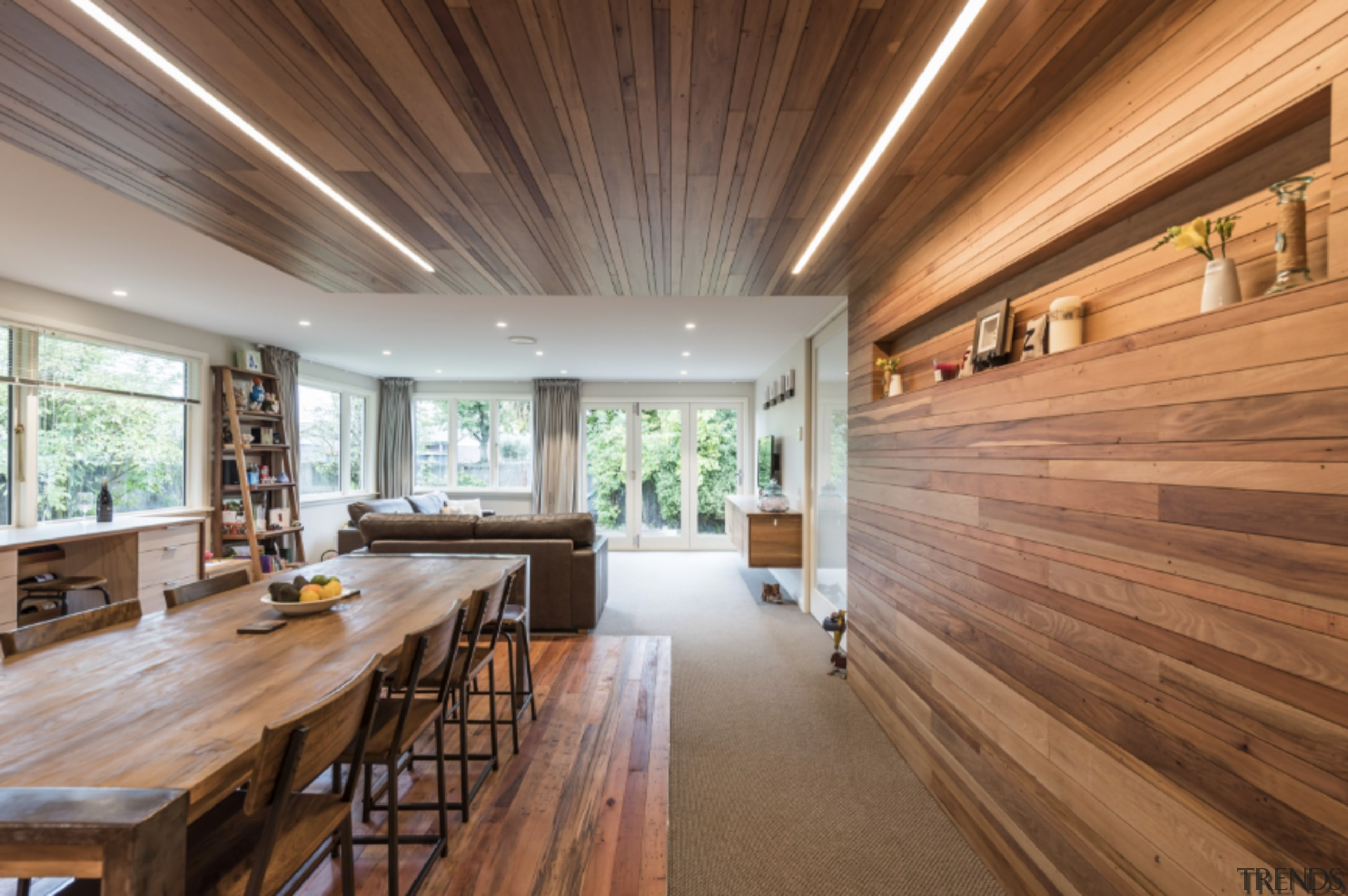 See more here architecture, ceiling, daylighting, estate, flooring, hardwood, home, house, interior design, living room, property, real estate, wood, wood flooring, brown