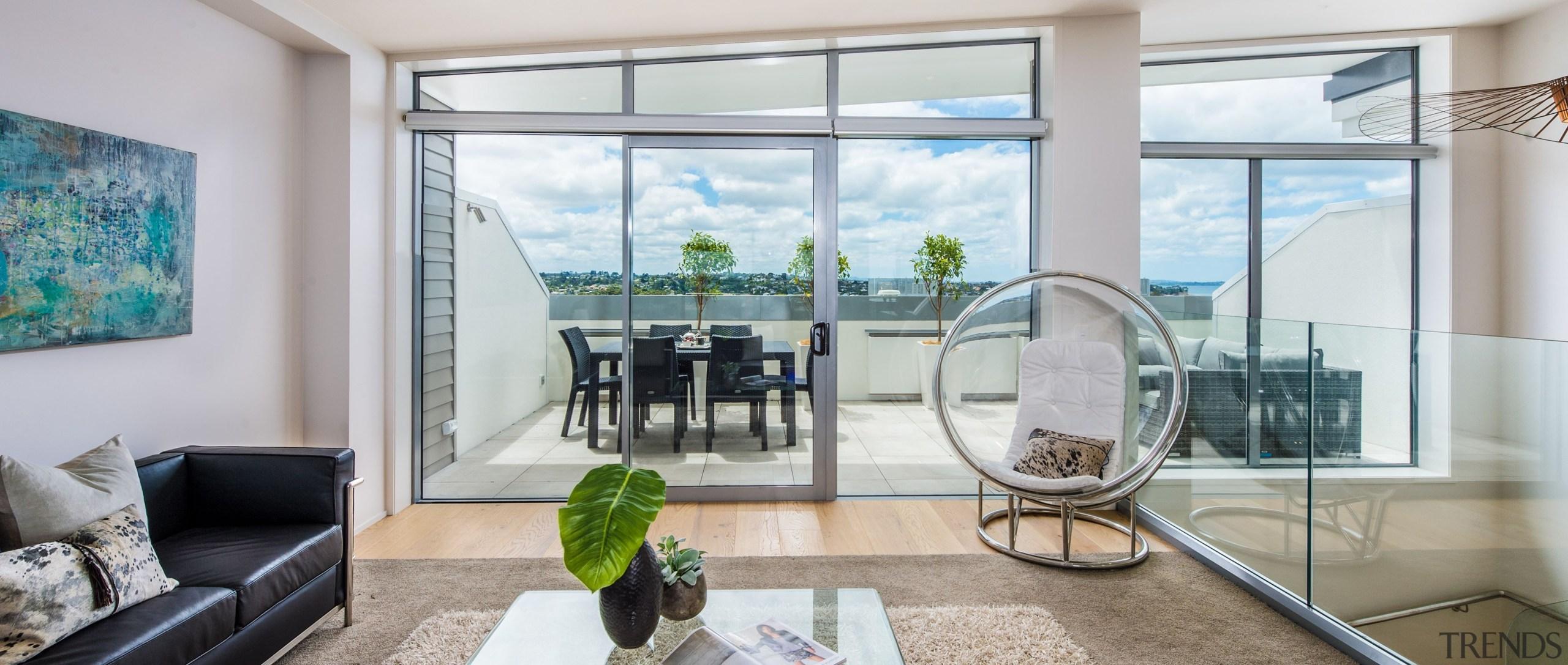 Seaview - apartment | balcony | door | apartment, balcony, door, home, house, interior design, living room, property, real estate, window, gray