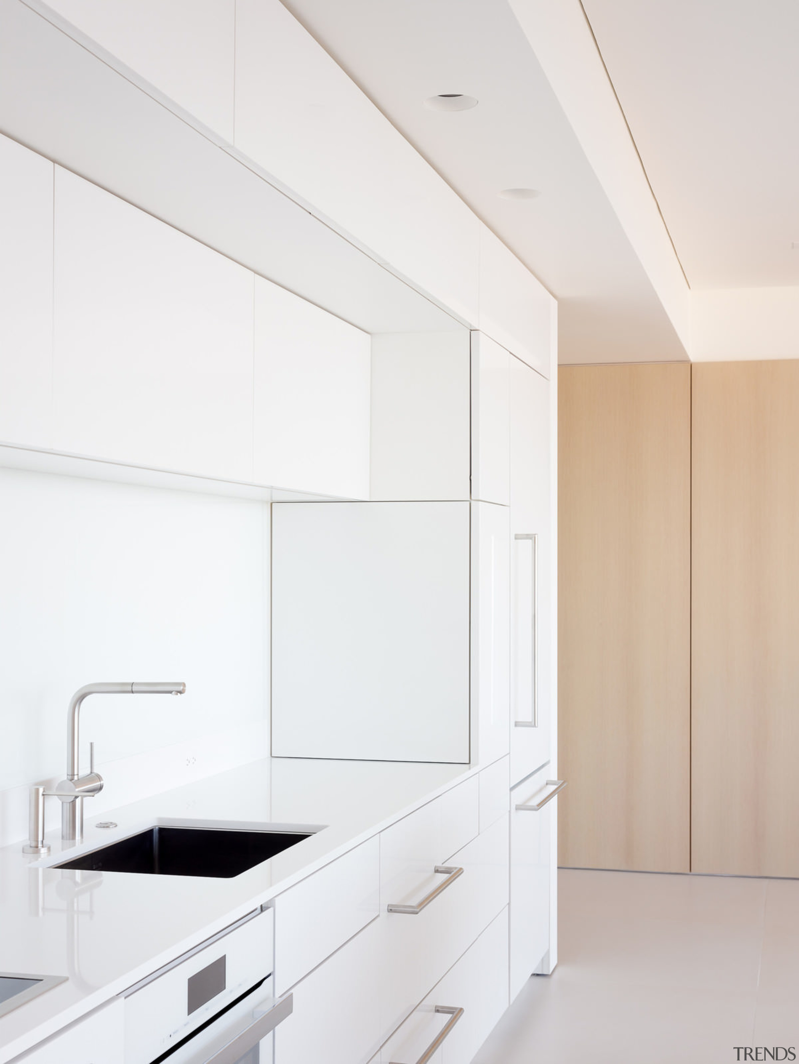 White cabinetry is an excellent choice in an architecture, countertop, interior design, kitchen, product design, white