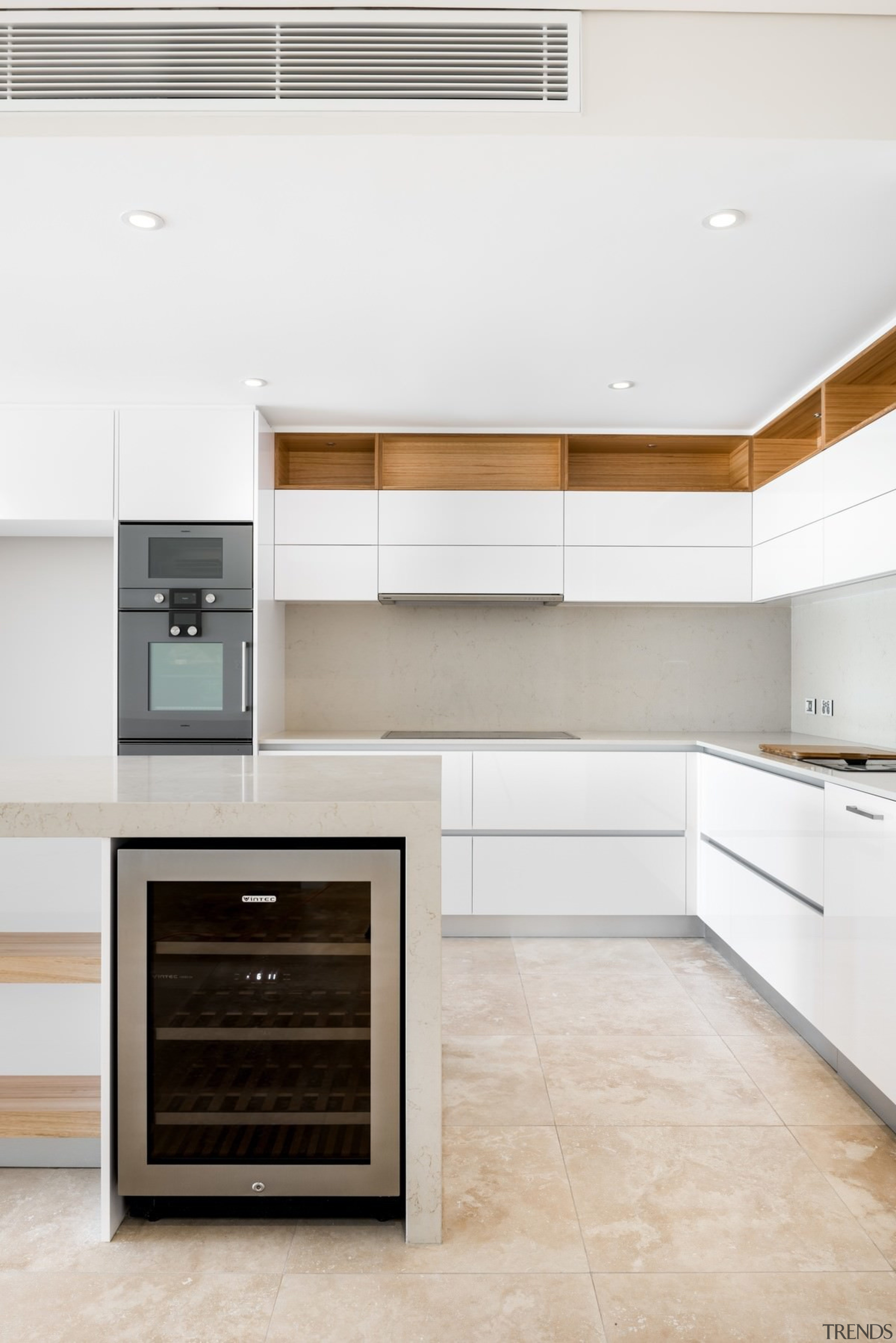 Storage runs along the top of this kitchen, cabinetry, countertop, cuisine classique, floor, home appliance, interior design, kitchen, kitchen appliance, kitchen stove, major appliance, product design, room, wood flooring, white