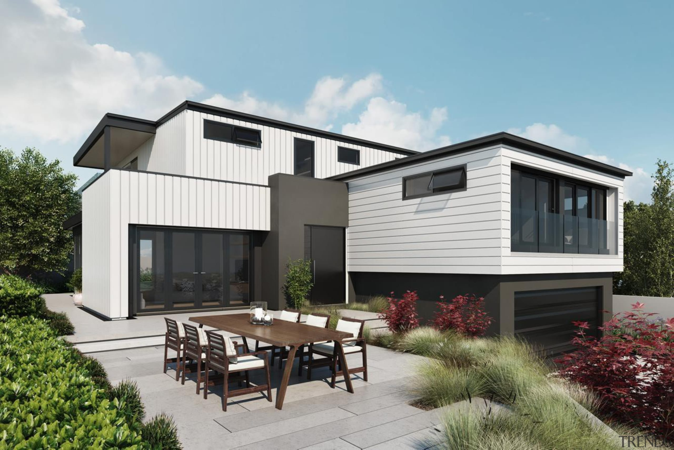 Linea Oblique Weatherboard - Linea Oblique Weatherboard - architecture, cottage, elevation, facade, home, house, property, real estate, siding, white
