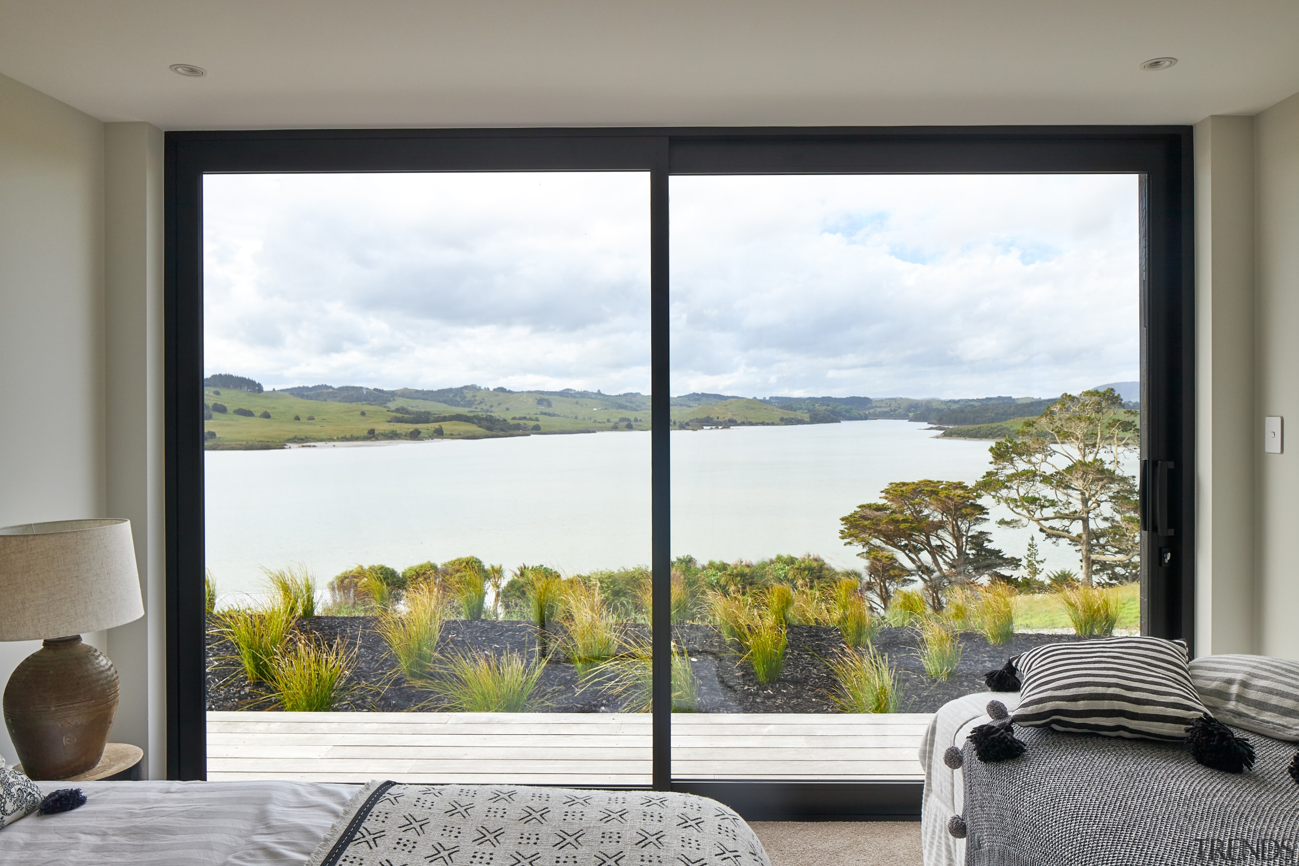 Tawny carpets in this home's bedrooms connect with