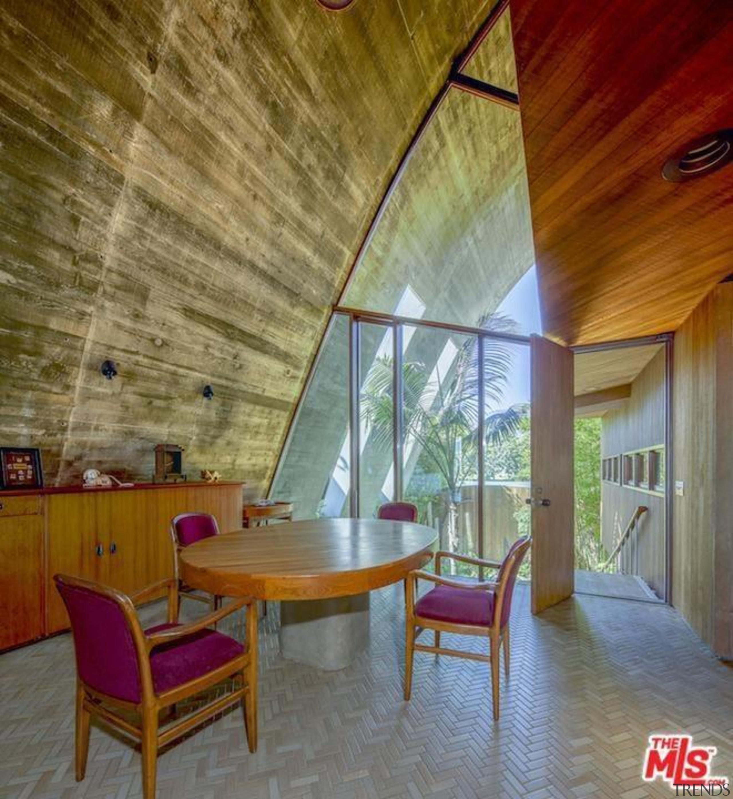 Edward Norton's new Malibu Colony home – Trulia architecture, ceiling, estate, home, house, interior design, lobby, real estate, room, wall, wood, brown, gray