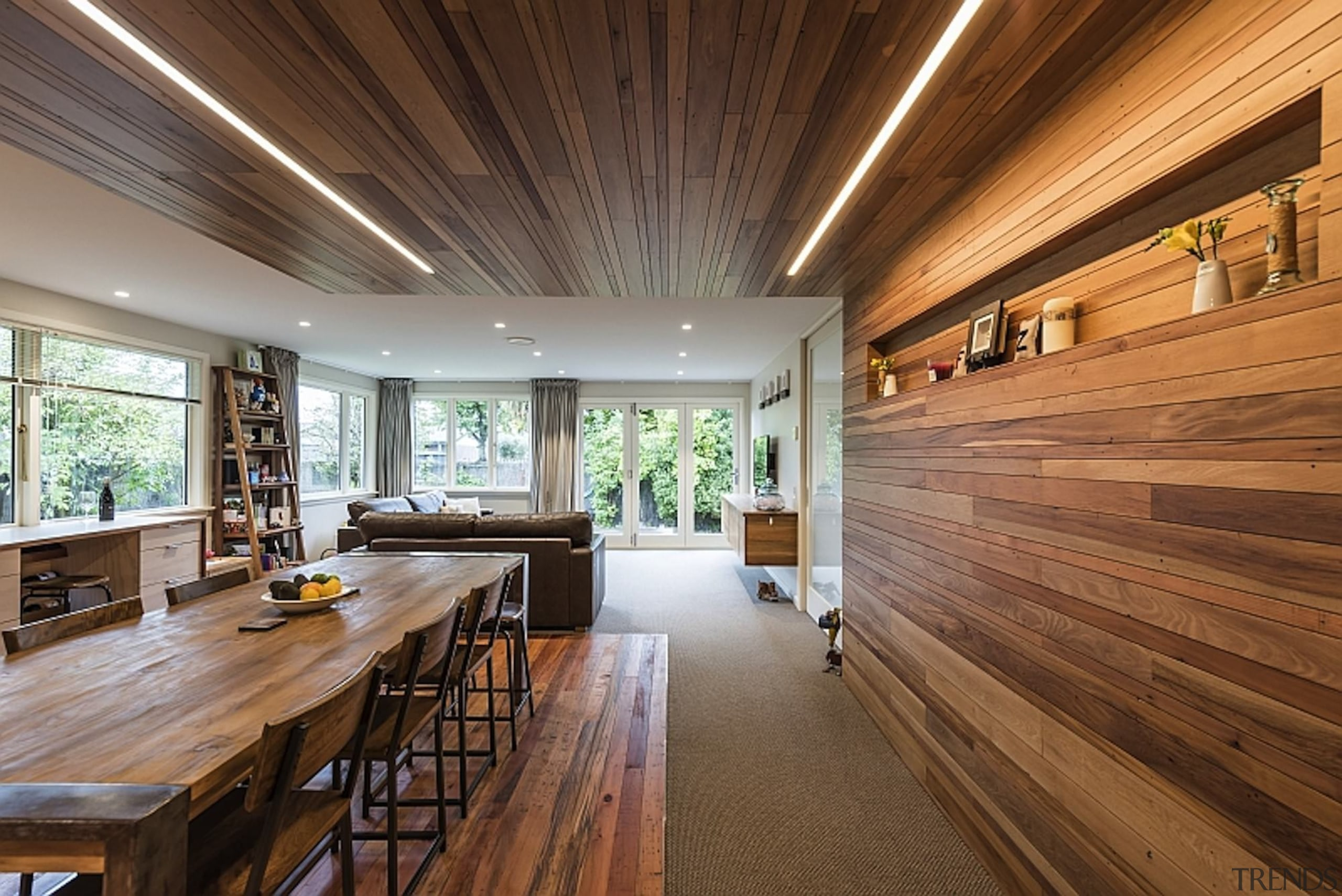 Jason Higham of Higham Architecture for Green Alterations architecture, ceiling, daylighting, estate, floor, flooring, hardwood, home, house, interior design, real estate, wood, wood flooring, brown