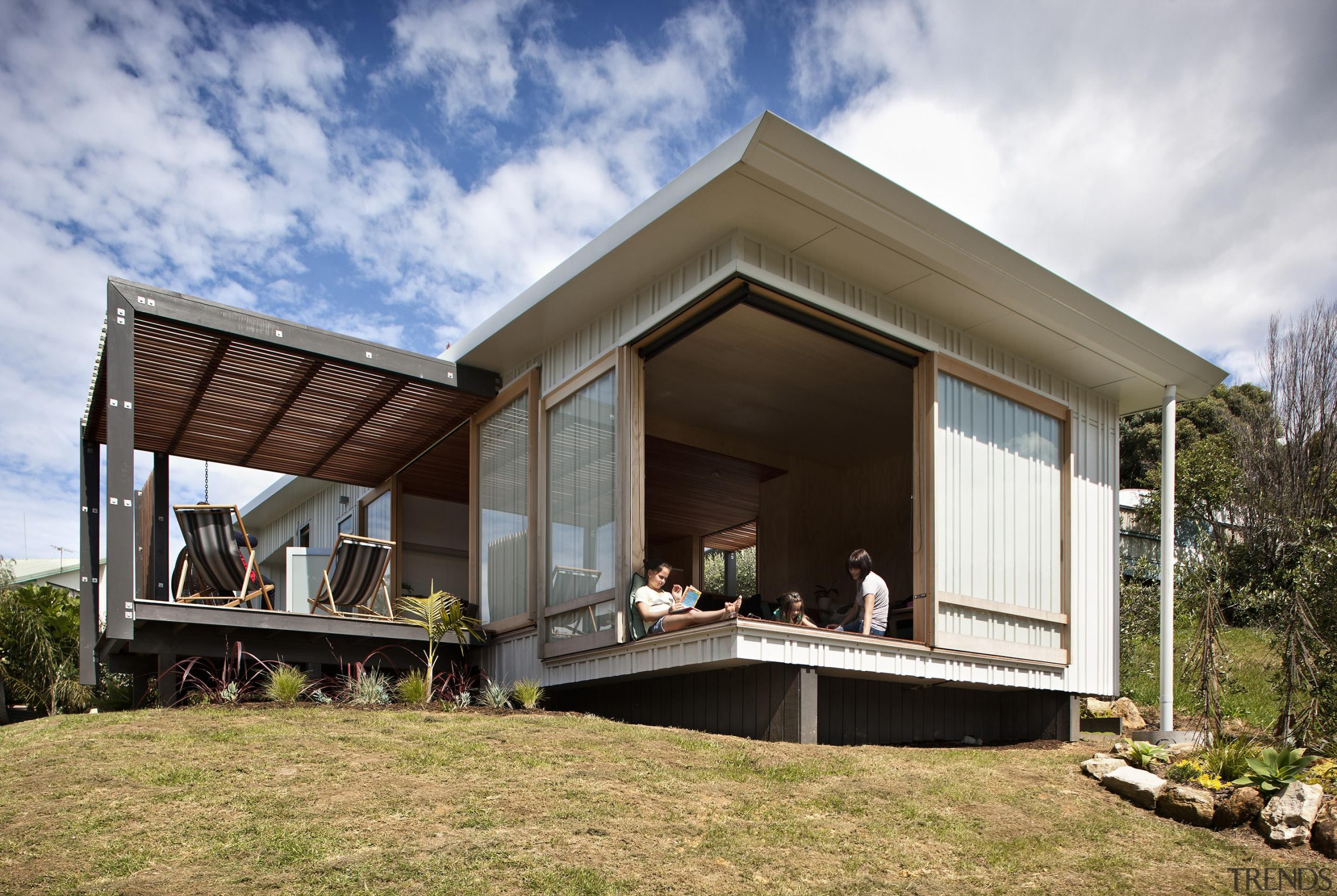 Coromandel, New Zealand - Studio 19 Onemana Bach architecture, cottage, facade, home, house, property, real estate, white