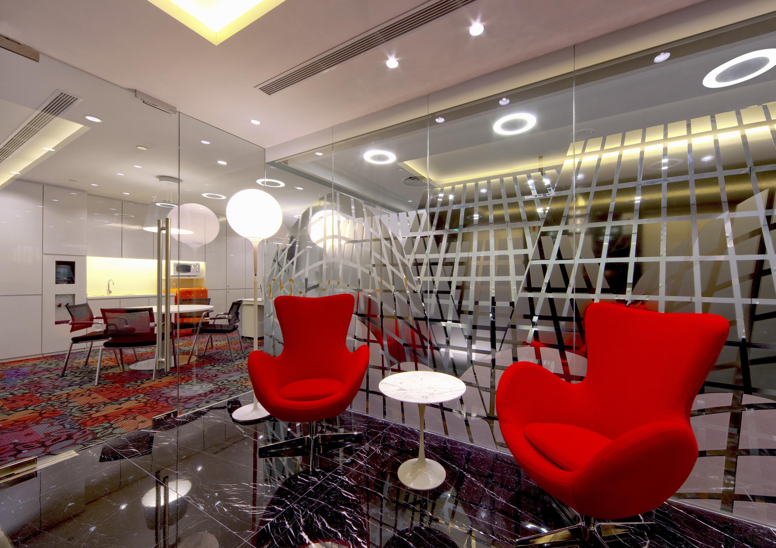 Contemporary offices of  the Real Estate Developer's café, ceiling, interior design, lobby, restaurant, gray