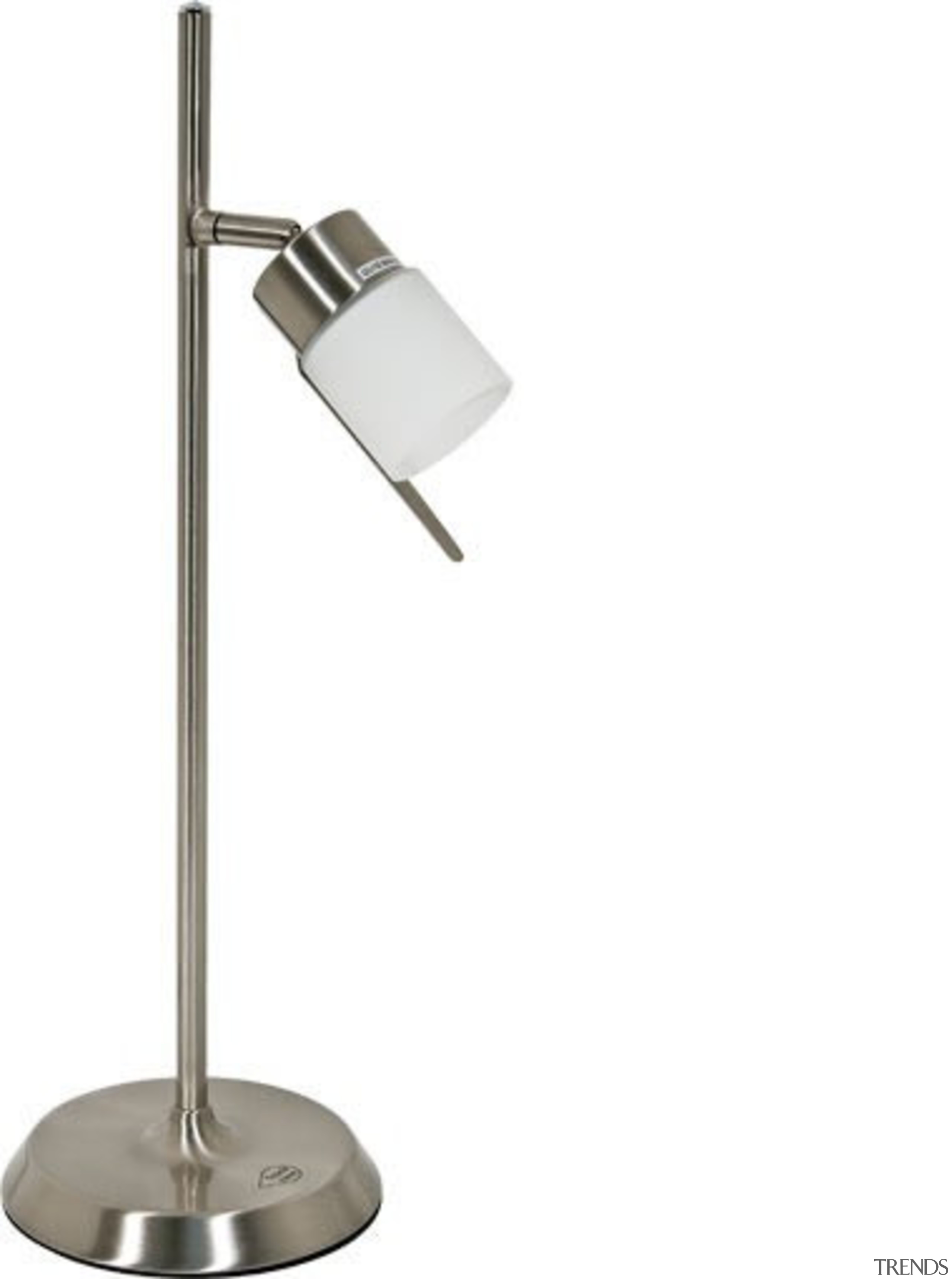 FeaturesA minimalist task light with an opal glass light fixture, lighting, product design, white