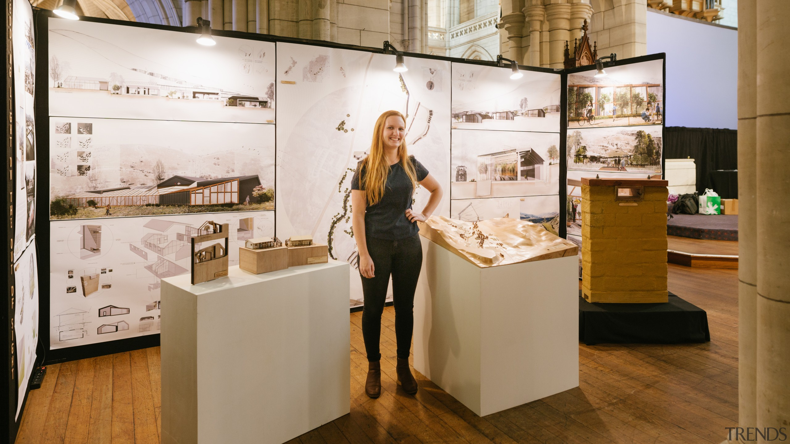 Annaliese Mirus – Unitec – finalist - 2018 exhibition, interior design, museum, brown, white