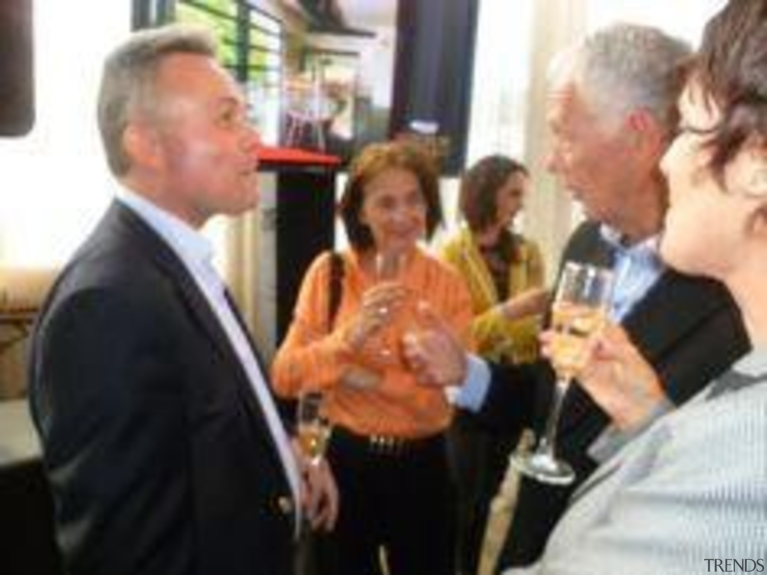 Richard Pollington, incoming General Manager and Gretch Flynn, drink, event, black, white