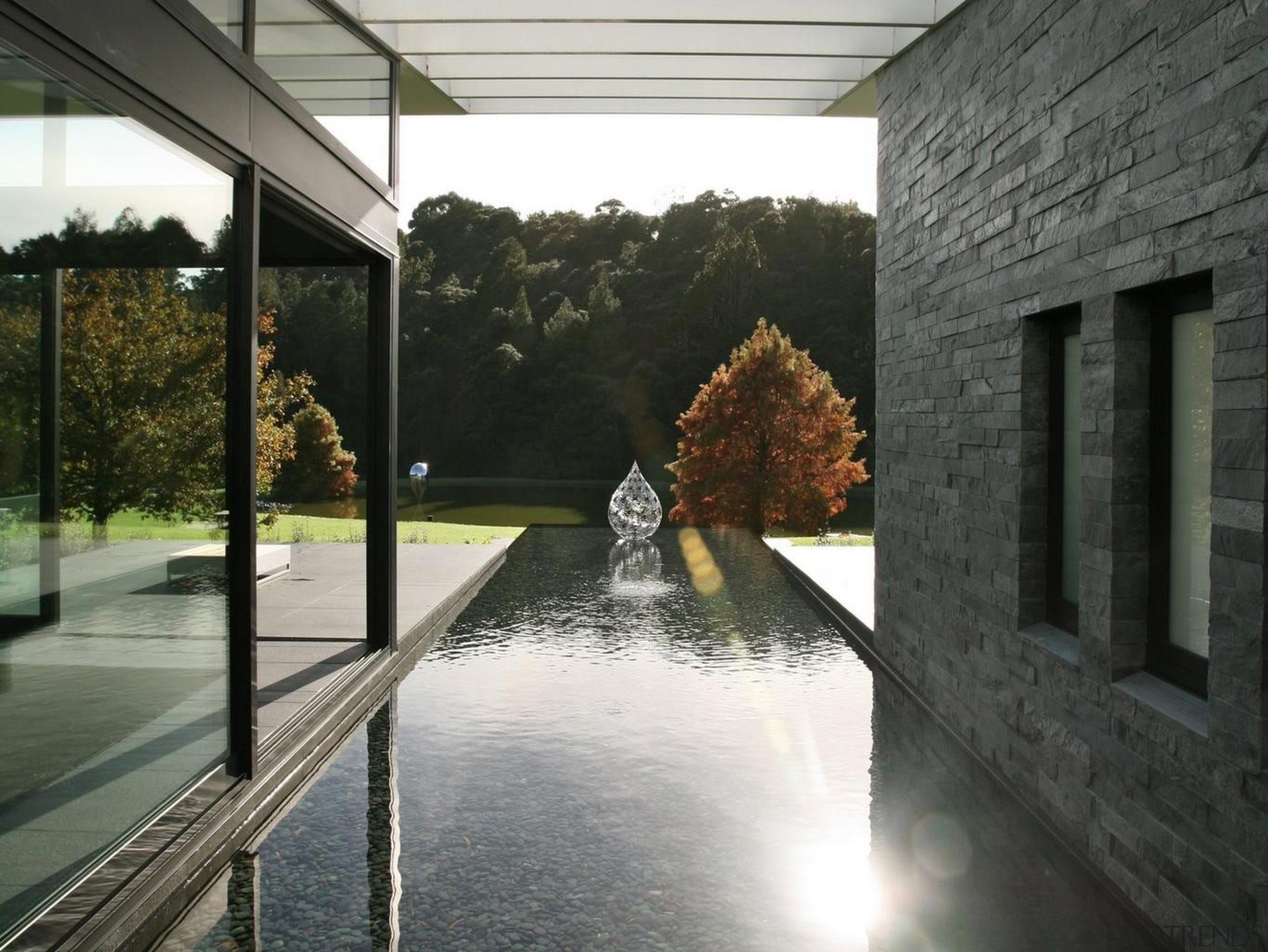 Coatesville House - Coatesville House - architecture   architecture, home, house, property, reflection, water, window, black, gray