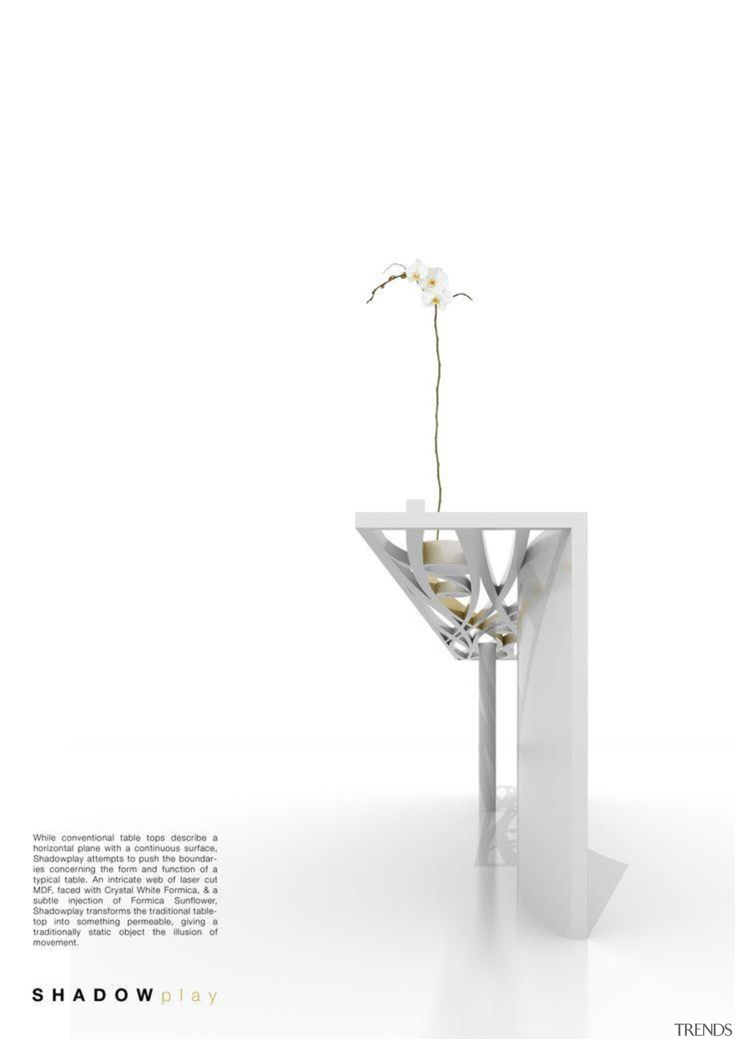 by Jin Jeong - Shadow Play - glass glass, product, product design, table, tap, white