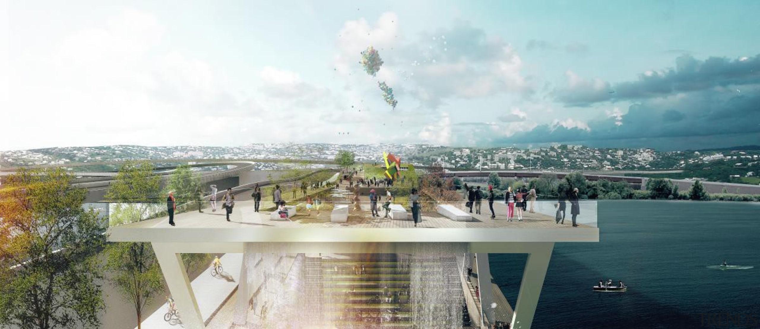 High line park - High line park - architecture, city, real estate, sky, tourist attraction, white
