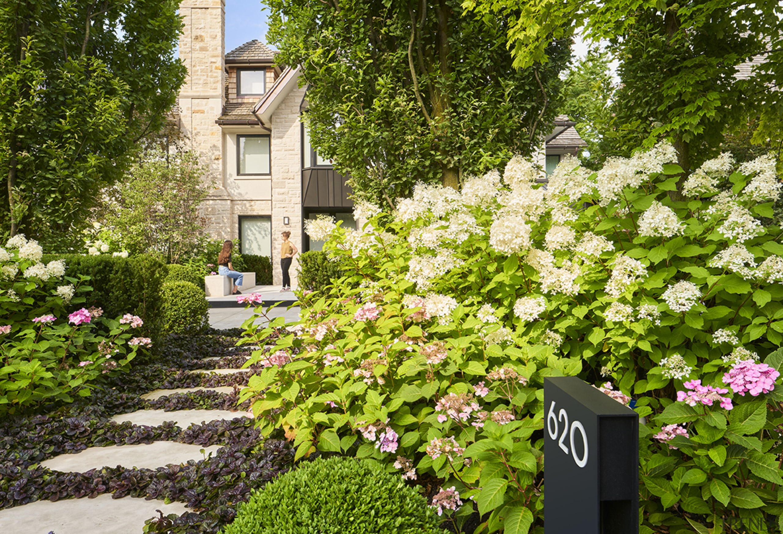 Taking a beautiful approach at the Toronto residence. brown
