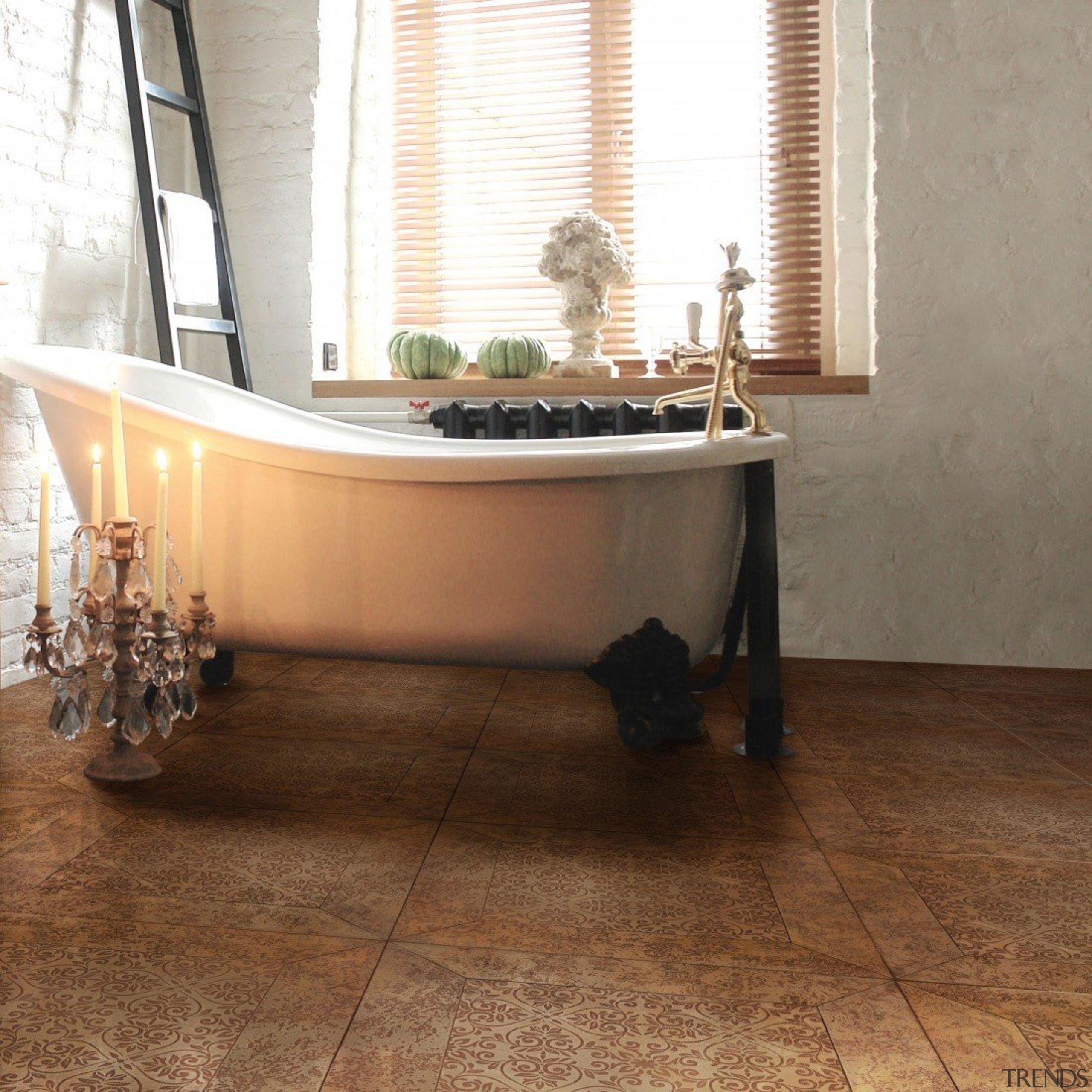 Siena Sun - bathtub | floor | flooring bathtub, floor, flooring, furniture, hardwood, interior design, laminate flooring, property, tile, wood, wood flooring, brown, white
