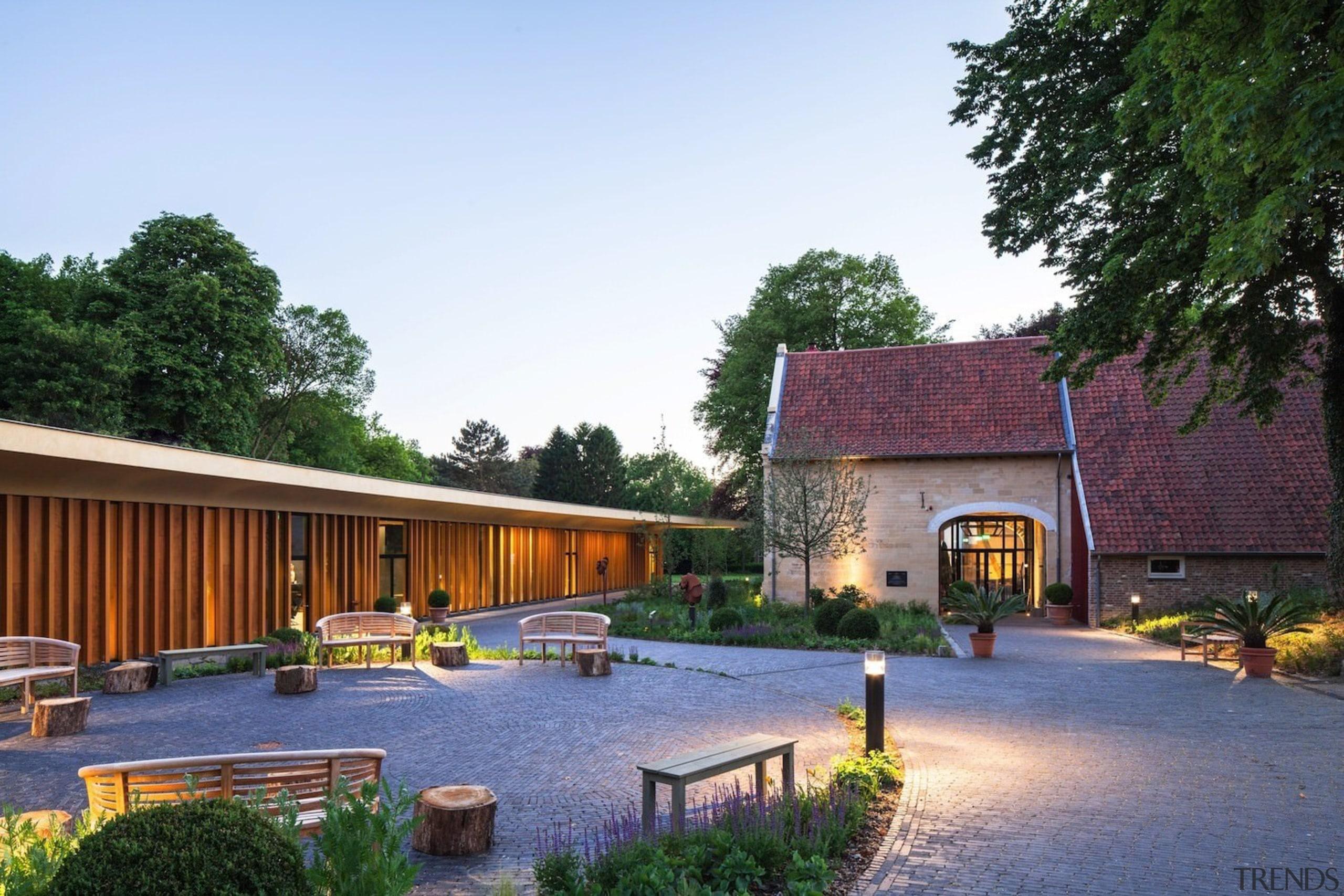 Architect: Meccanoo cottage, estate, farmhouse, home, house, landscape, property, real estate, villa, white