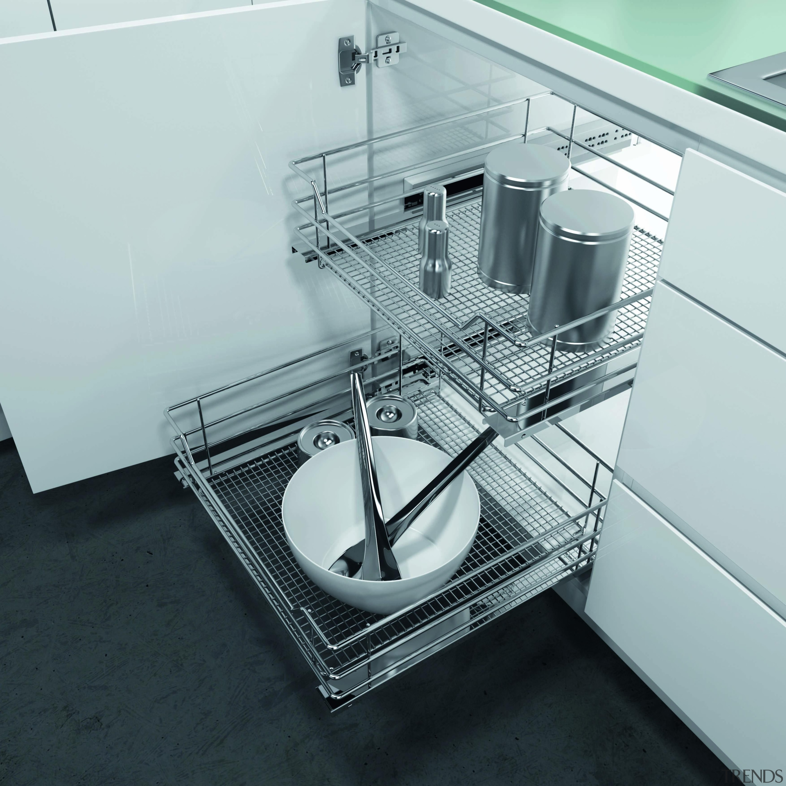 Get organised with the immensely practical, clearly arranged plumbing fixture, product, product design, sink, small appliance, steel, tap, gray, black