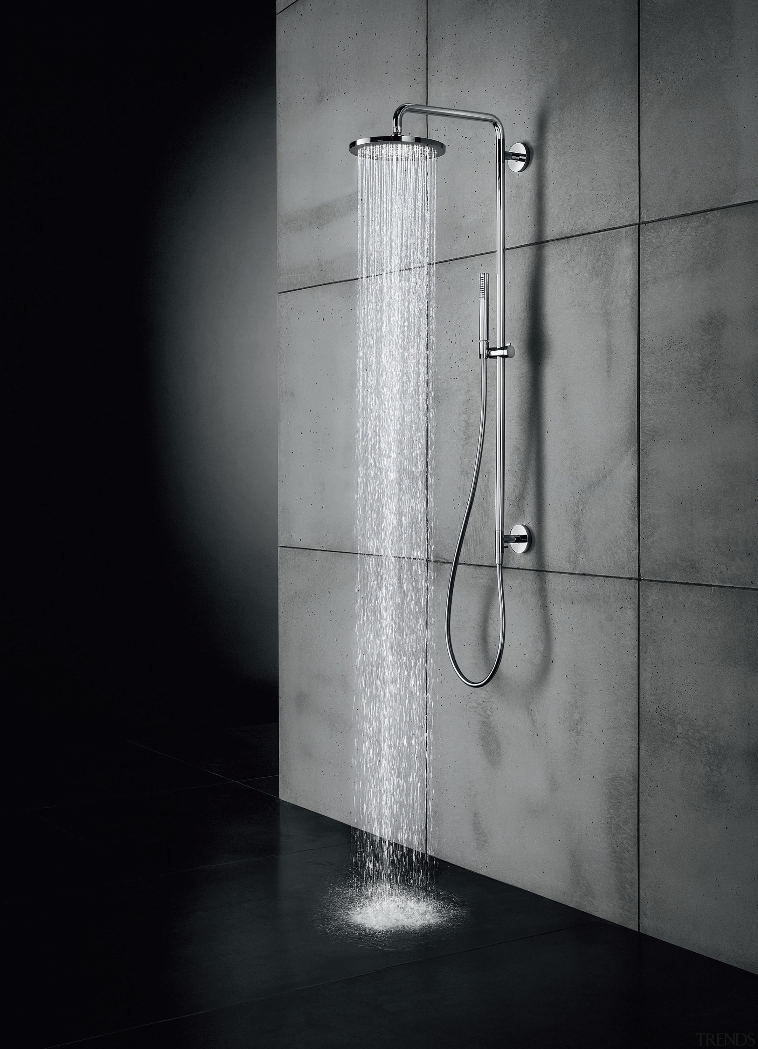 Simple water saving tips - angle | black angle, black and white, light, light fixture, lighting, plumbing fixture, shower, tap, black, gray