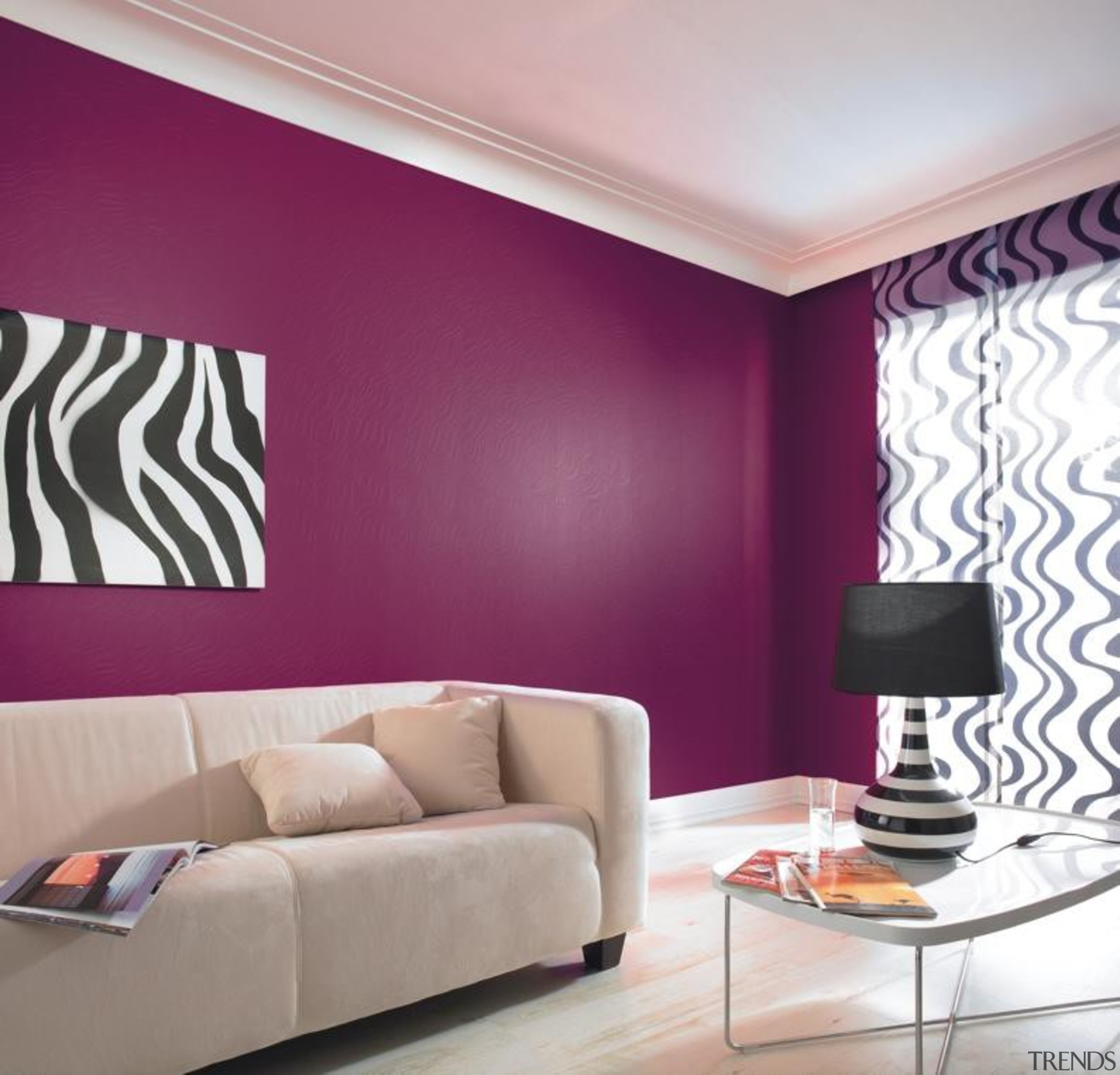 Wallton Painton Range - Wallton Painton Range - ceiling, curtain, interior design, living room, pink, purple, room, wall, wallpaper, window blind, window covering, window treatment, gray, purple