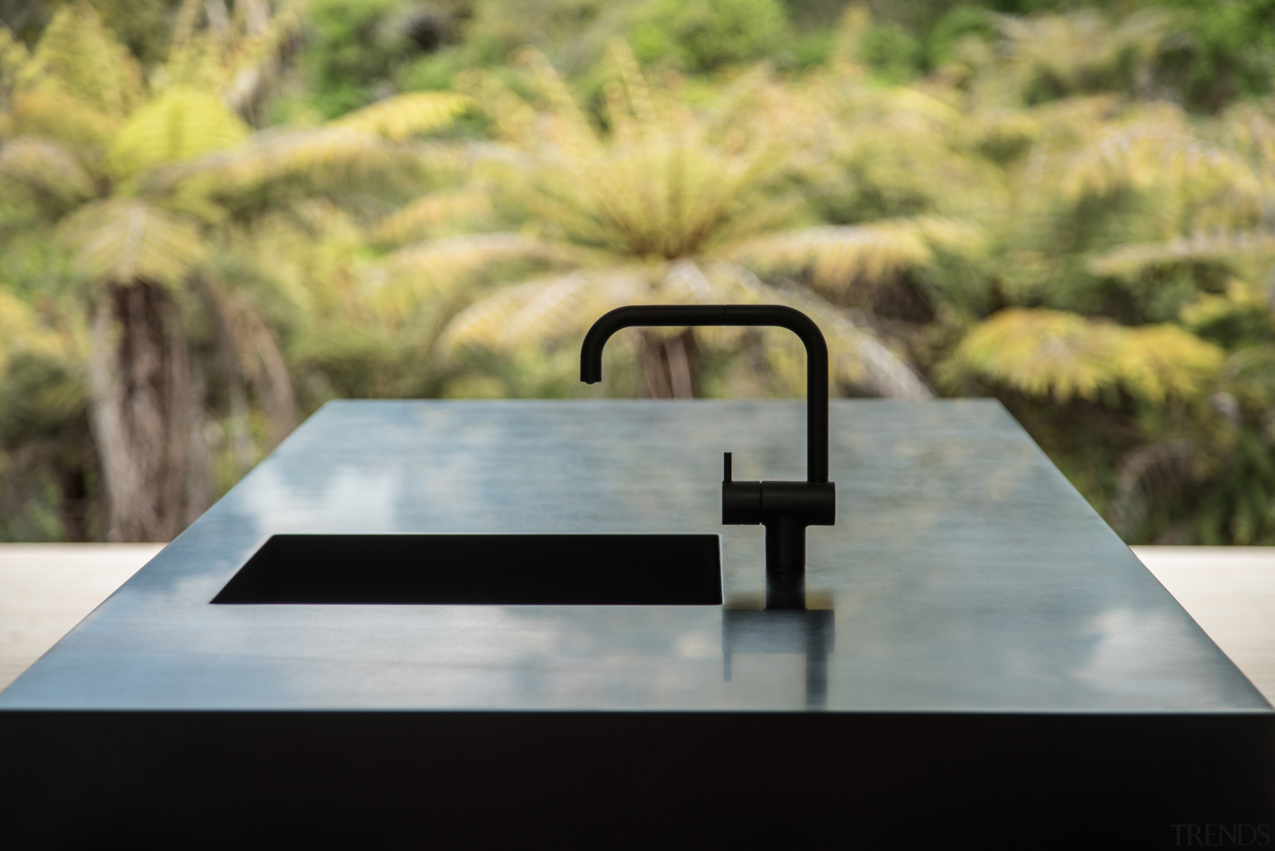 Despite being part of a modest-sized home, all automotive exterior, table, water