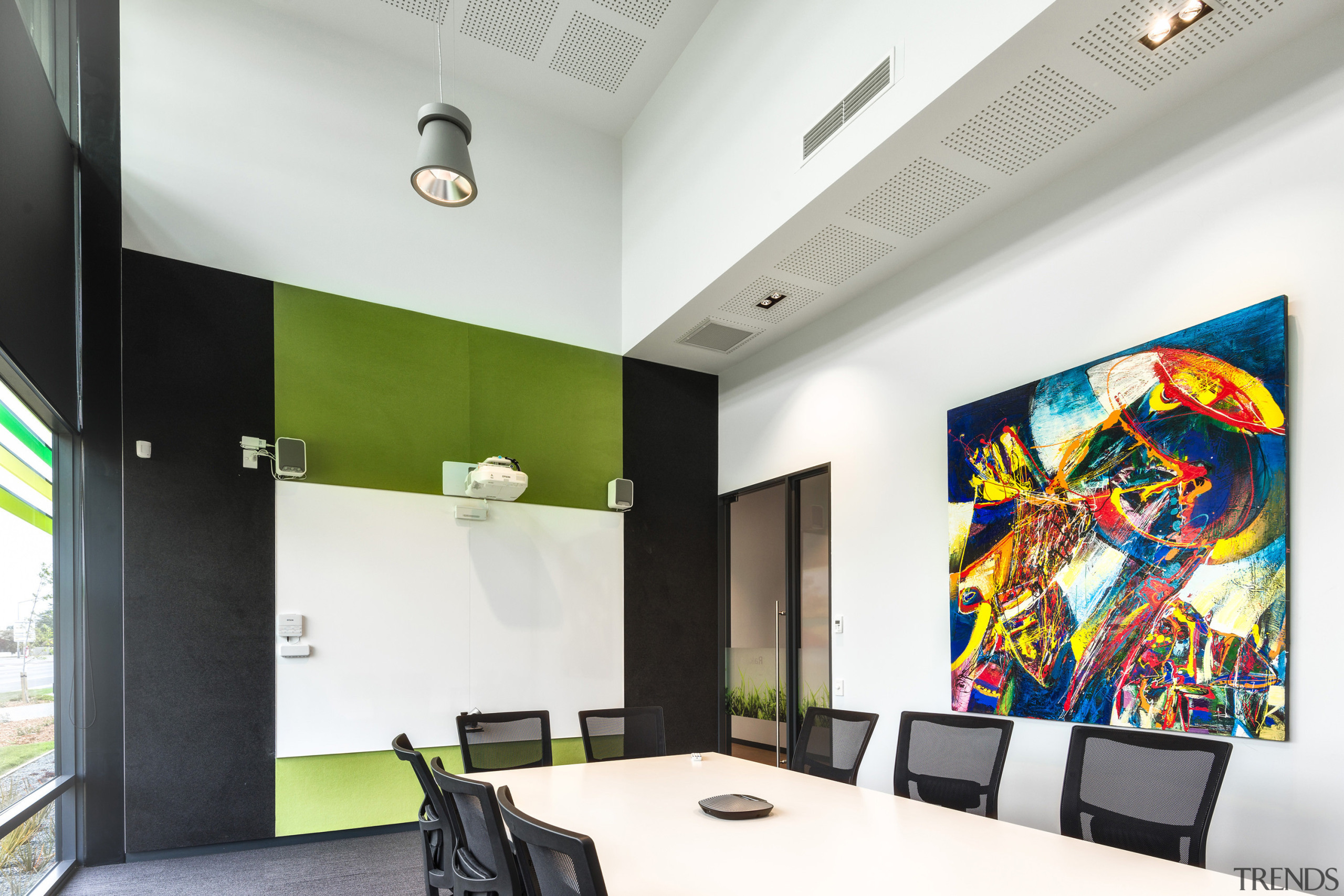 For this project by Stufkens + Chambers Architects, ceiling, interior design, white