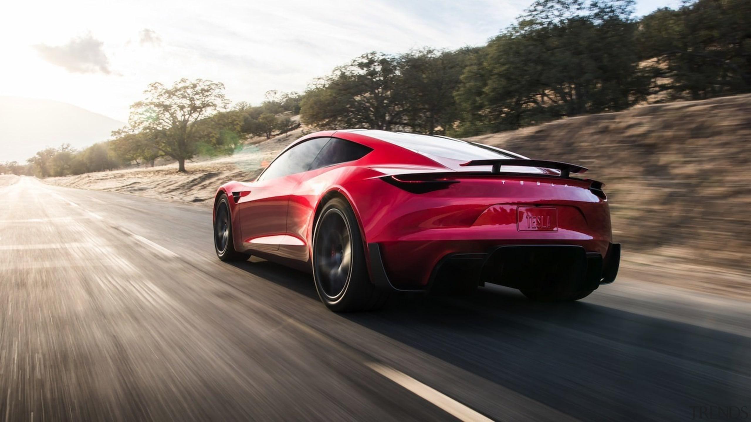 Tesla's new Roadster - Tesla's new Roadster - automotive design, automotive exterior, car, concept car, family car, luxury vehicle, mid size car, motor vehicle, performance car, personal luxury car, race car, sports car, supercar, vehicle, black, white