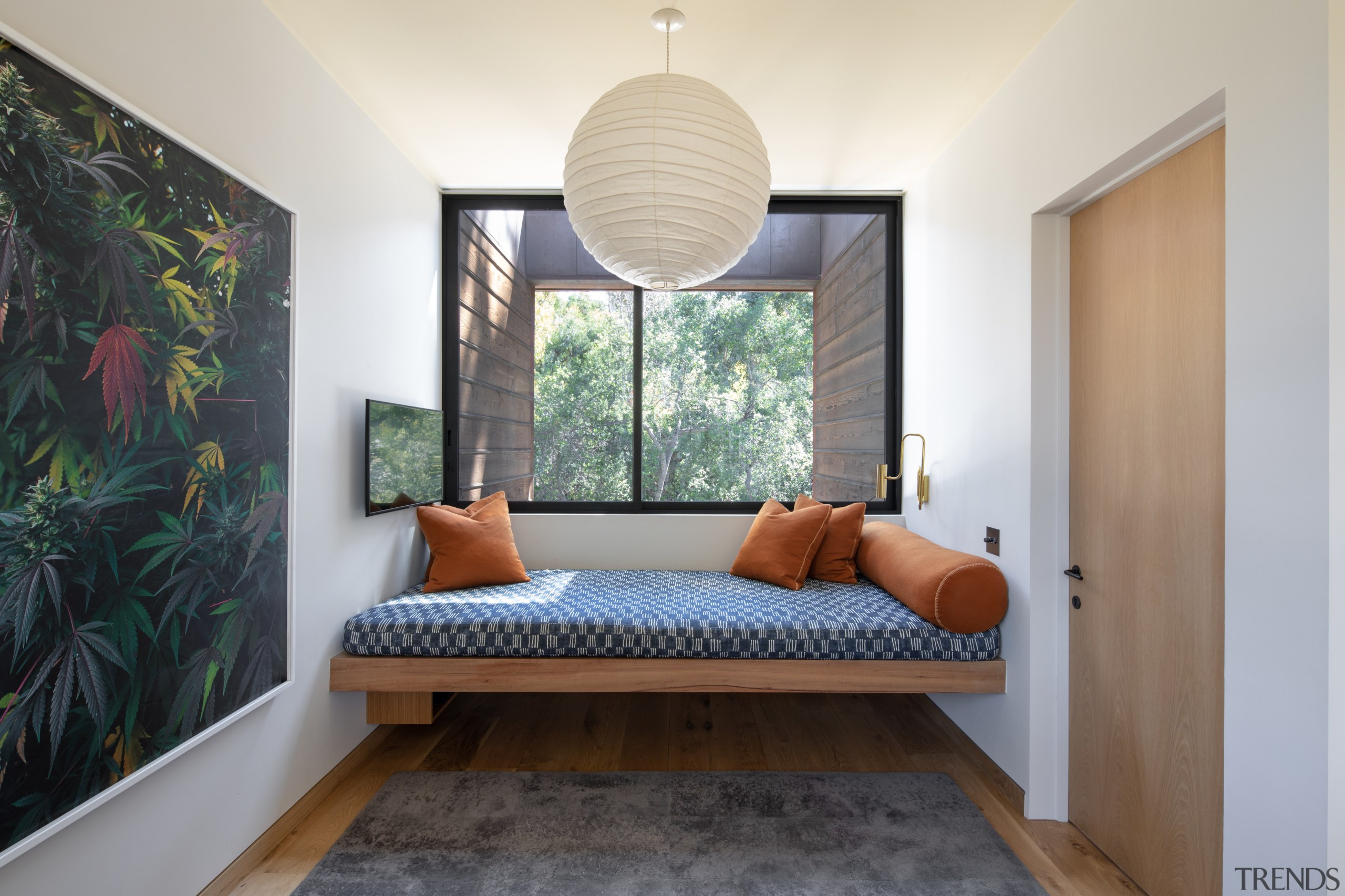"""The """"Perch"""", with a custom Eucalyptus built-in daybed"""