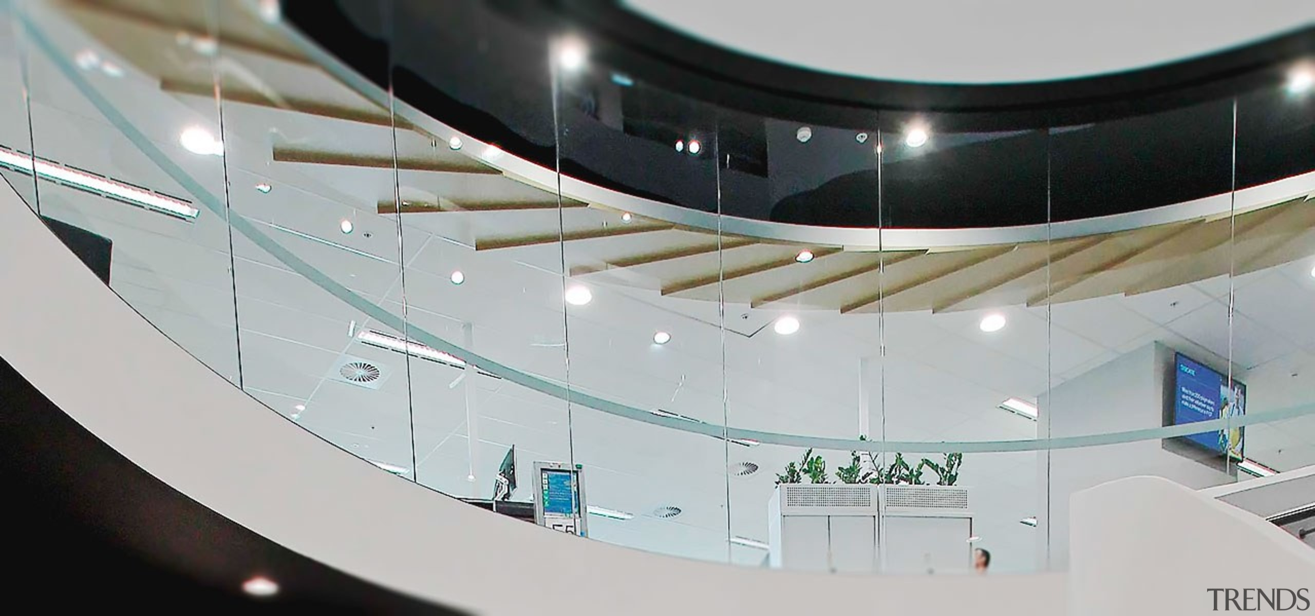 TA Bcorp Offices 3 - architecture   building architecture, building, ceiling, glass, interior design, gray
