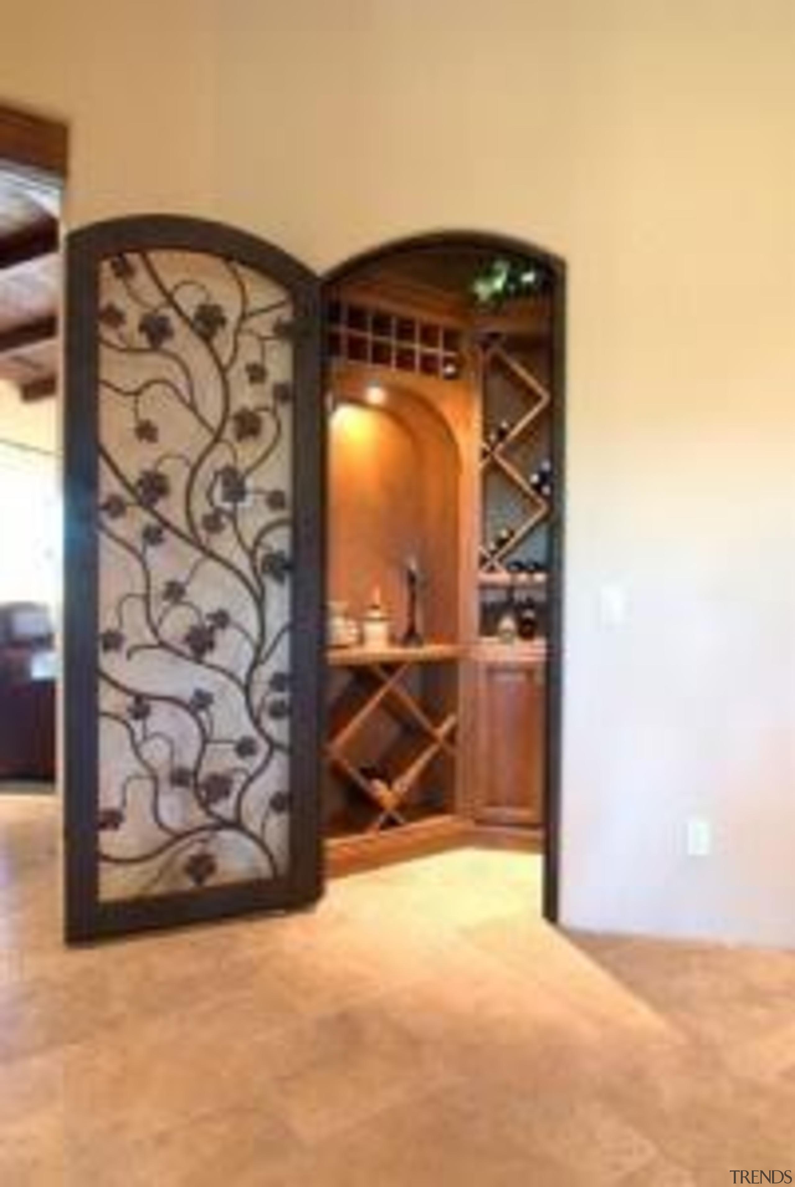 Modern Wine Cellar Ideas - Modern Wine Cellar door, floor, flooring, glass, interior design, wall, orange