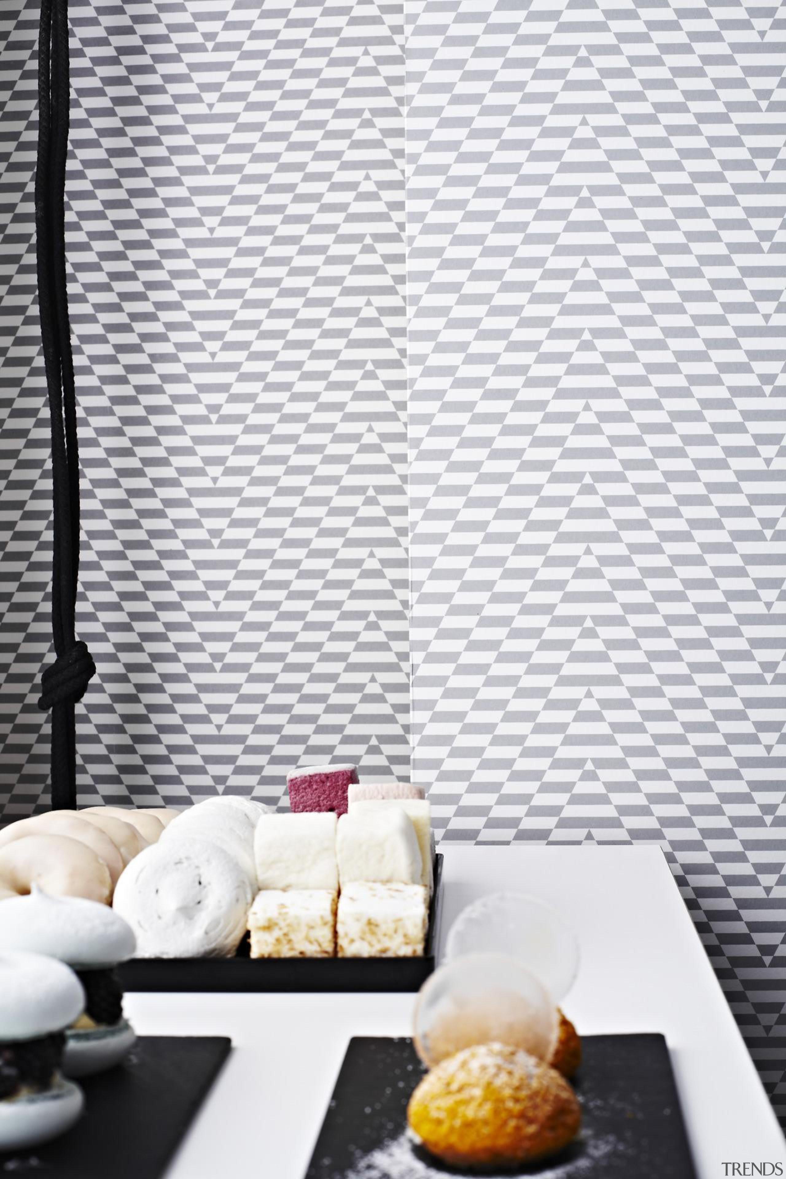 Eley Kishimoto Hand-Printed Wallpaper Collection - Eley Kishimoto interior design, table, wall, wallpaper, white
