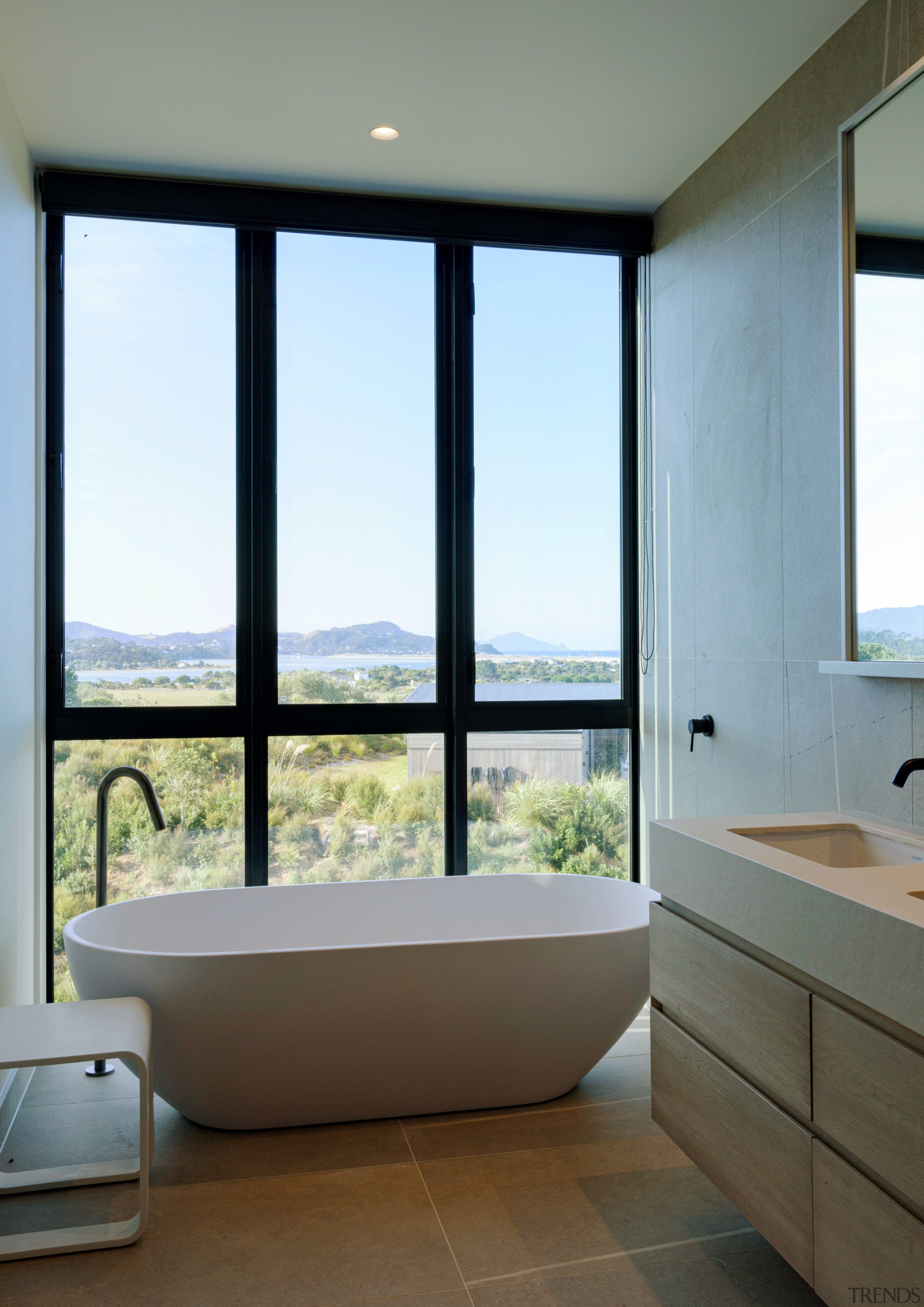 Soaking in the views – floor-to-ceiling windows mean