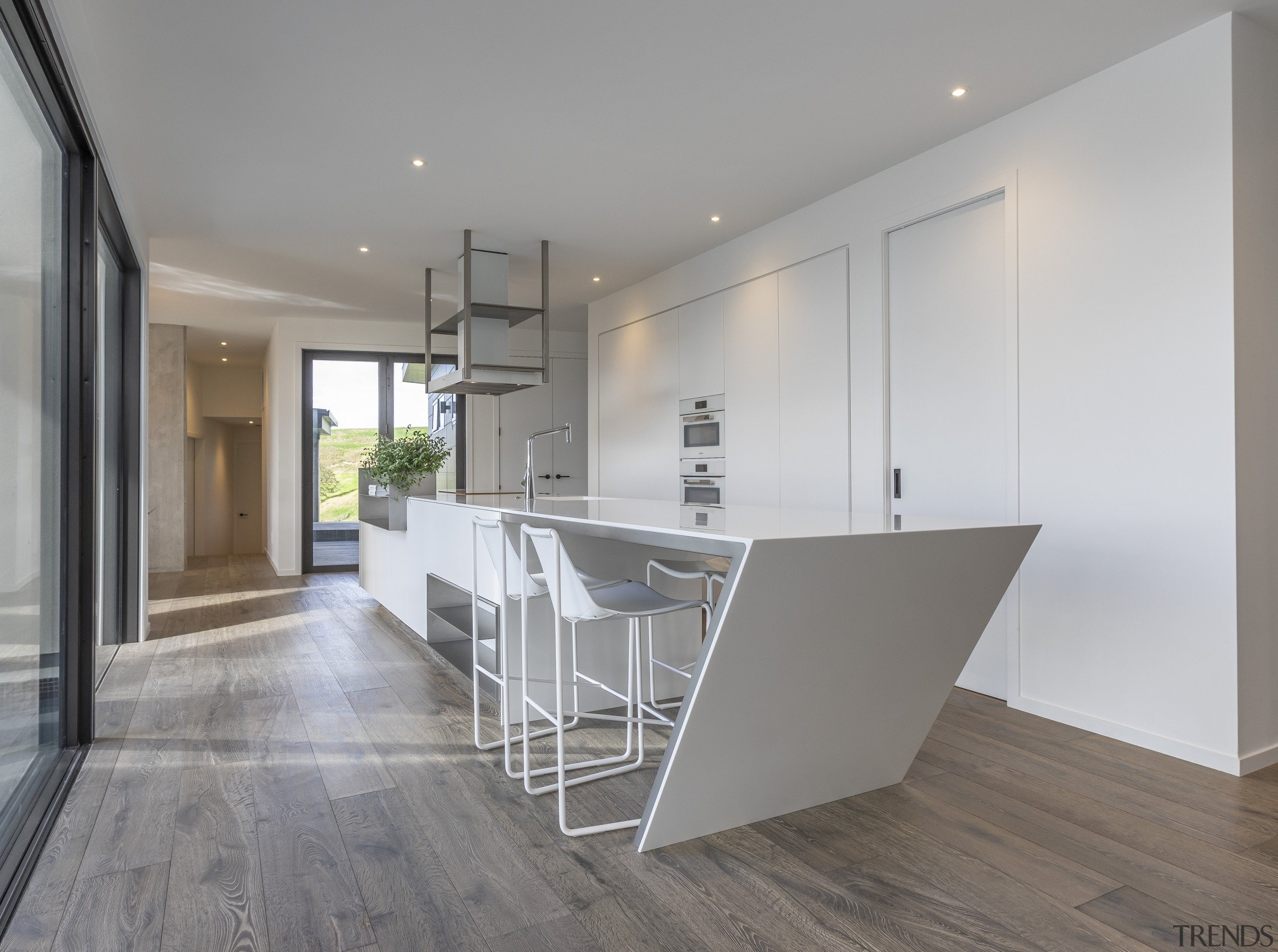Highly Commended – Celia Visser Design – 2019 architecture, building, cabinetry, ceiling, countertop, daylighting, design, floor, flooring, furniture, hardwood, home, house, interior design, kitchen, laminate flooring, loft, material property, property, real estate, room, table, tile, wood, wood flooring, gray