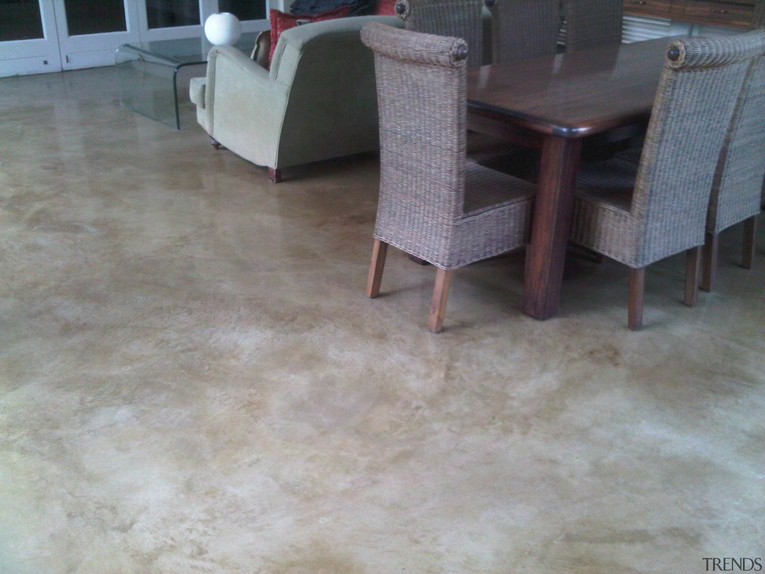 Chemical stain 9 - Chemical_stain_9 - floor | floor, flooring, hardwood, laminate flooring, table, tile, wood, wood flooring, gray