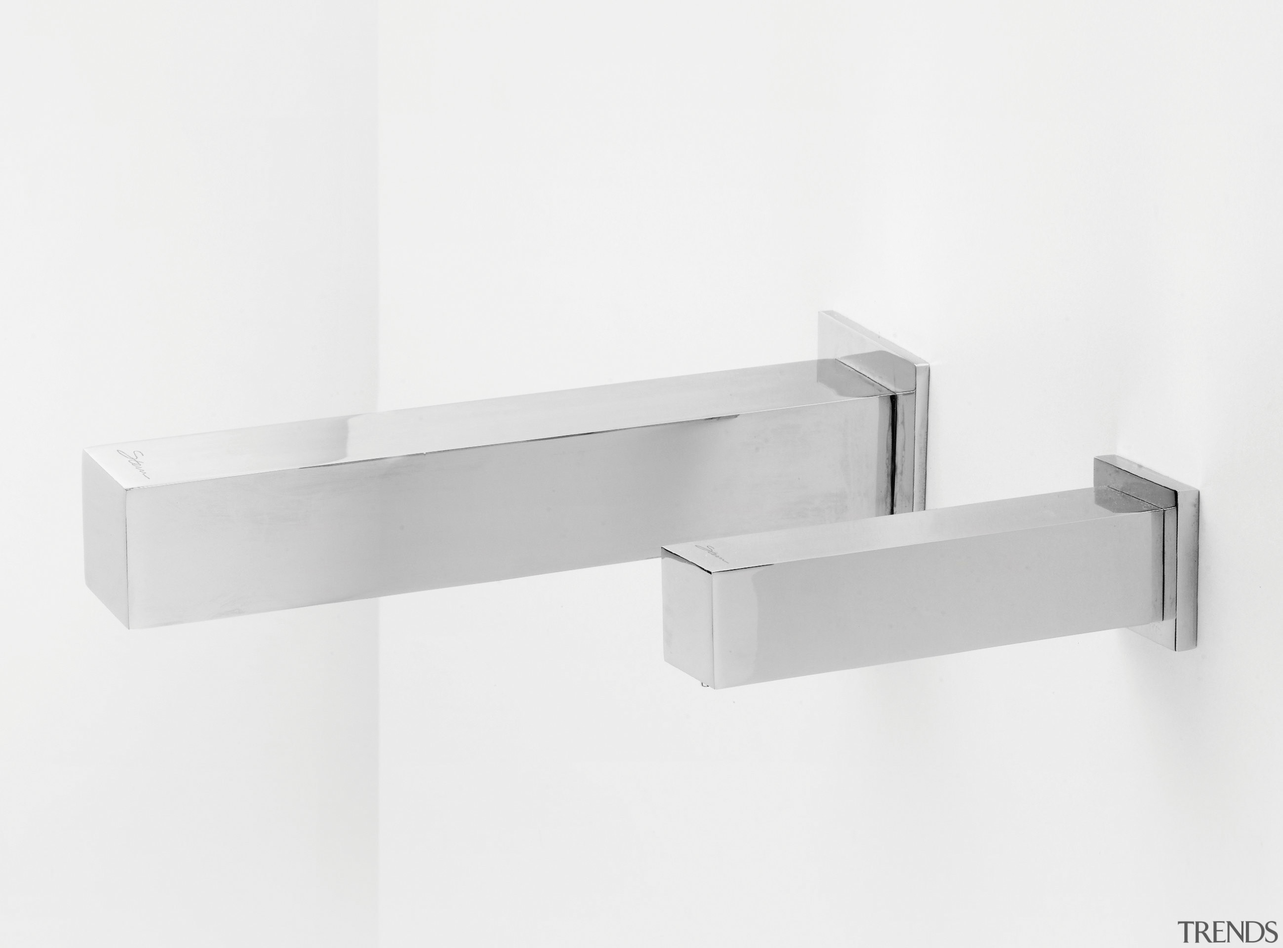 Zoom electronic faucets from Lacava automatically turn on angle, bathroom accessory, product design, shelf, white